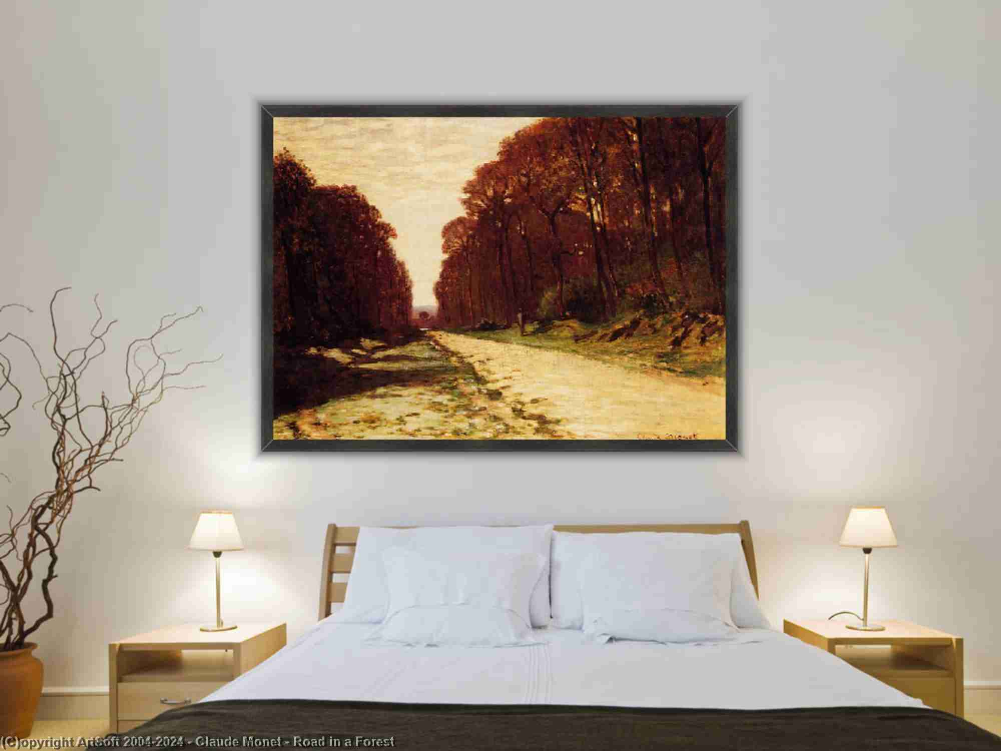 Claude Monet - strada in un foresta
