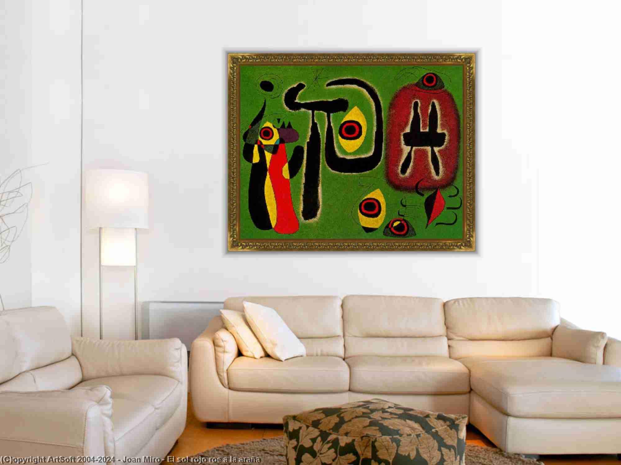 Joan Miro - El sol rojo huevas a la araña