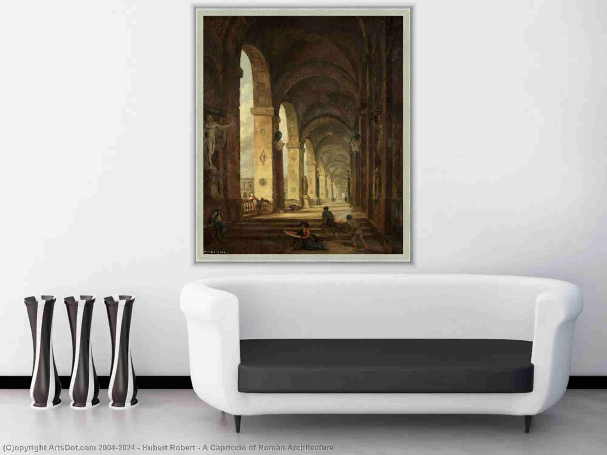 Hubert Robert - A Capriccio of Roman Architecture