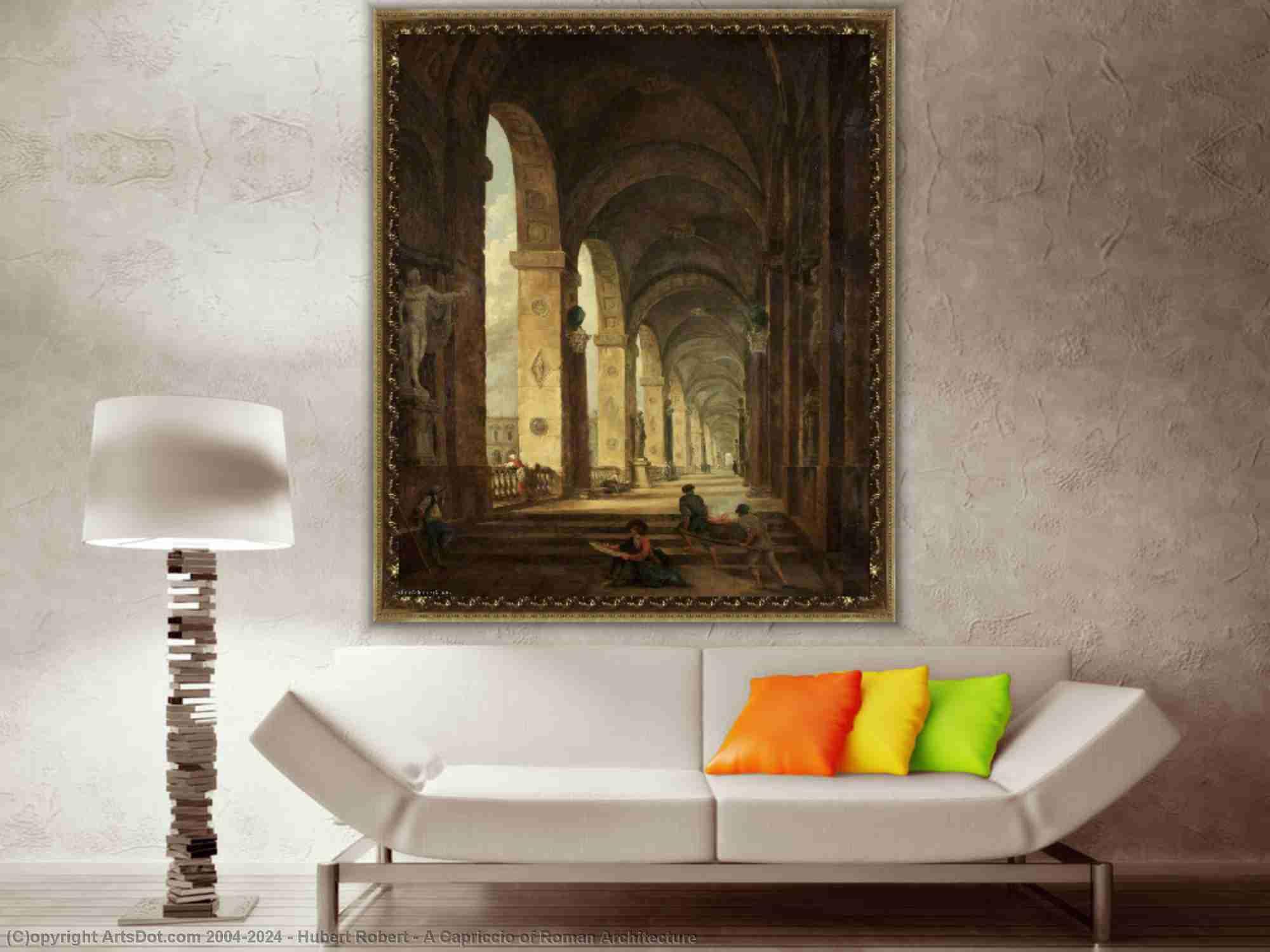 Hubert Robert - A カプリッチオ の ローマ建築