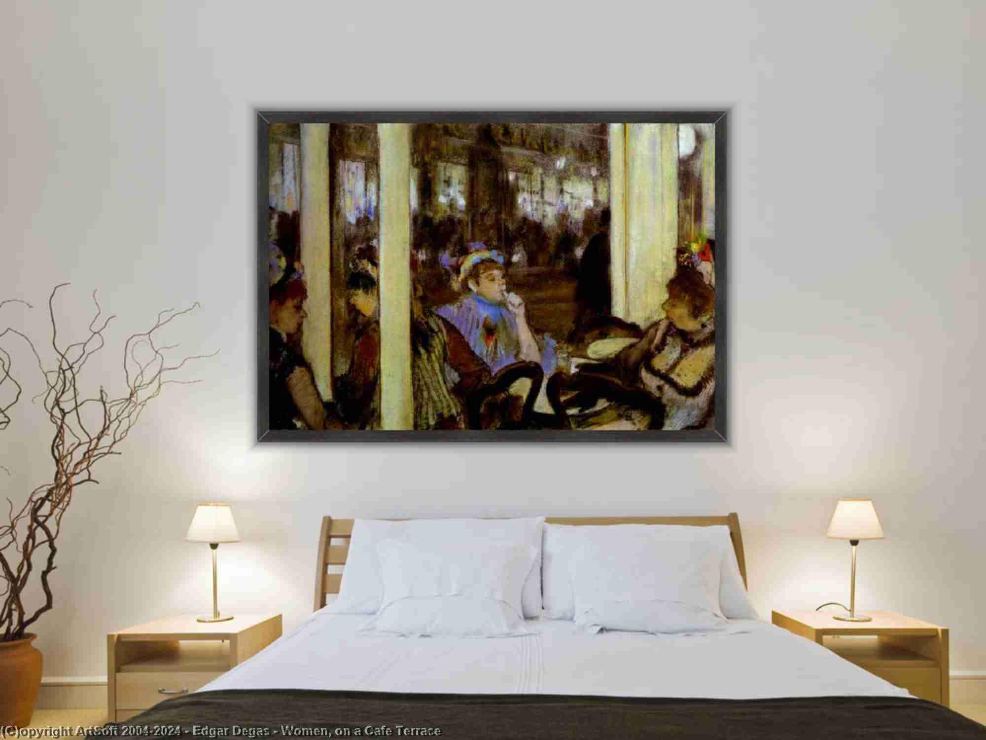 Edgar Degas - 女性たち , カフェテラス