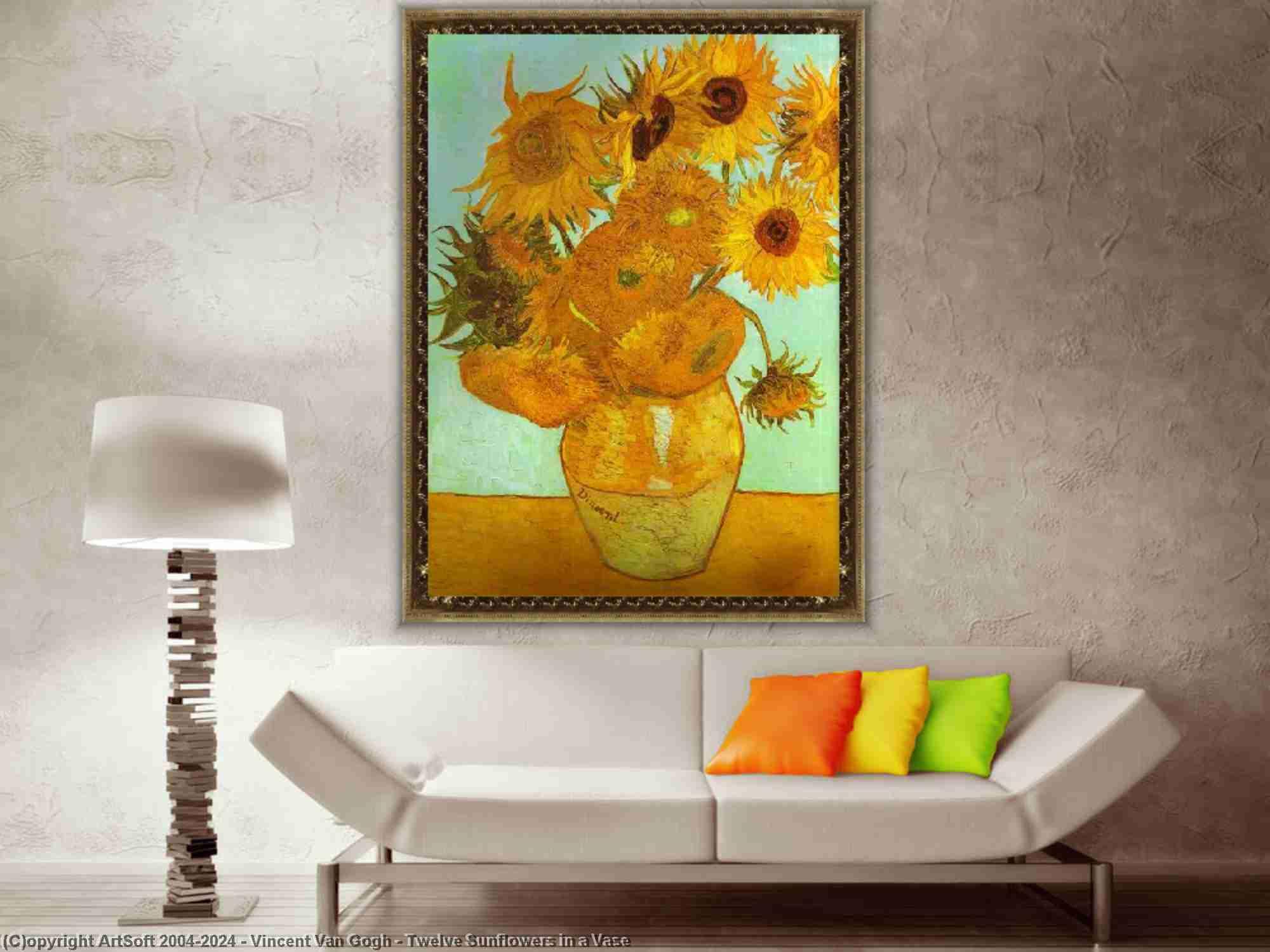 Vincent Van Gogh - zwölf sonnenblumen in einer vase