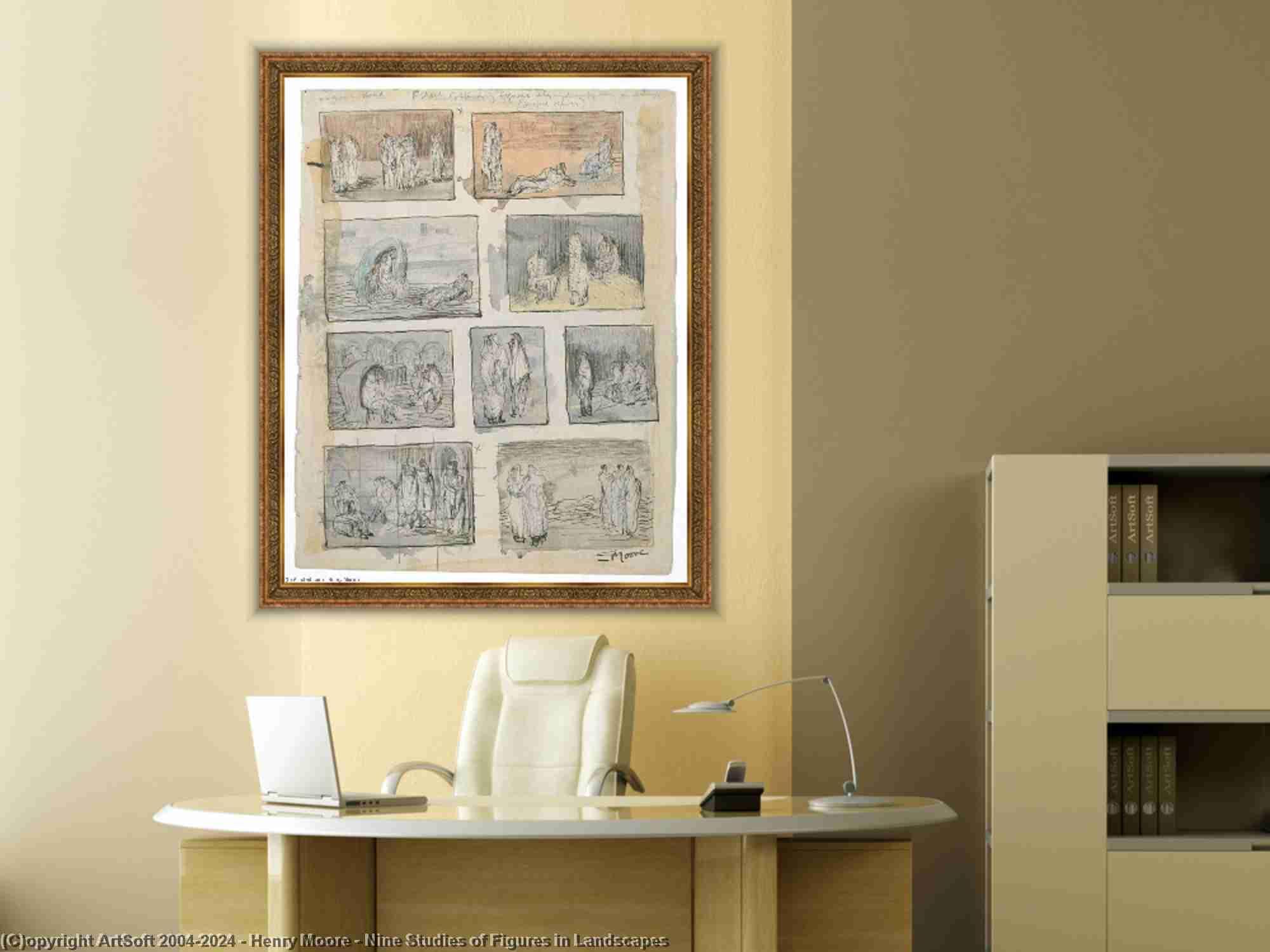 Henry Moore - nueve estudios  todaclasede  cifras  cómo  paisajes