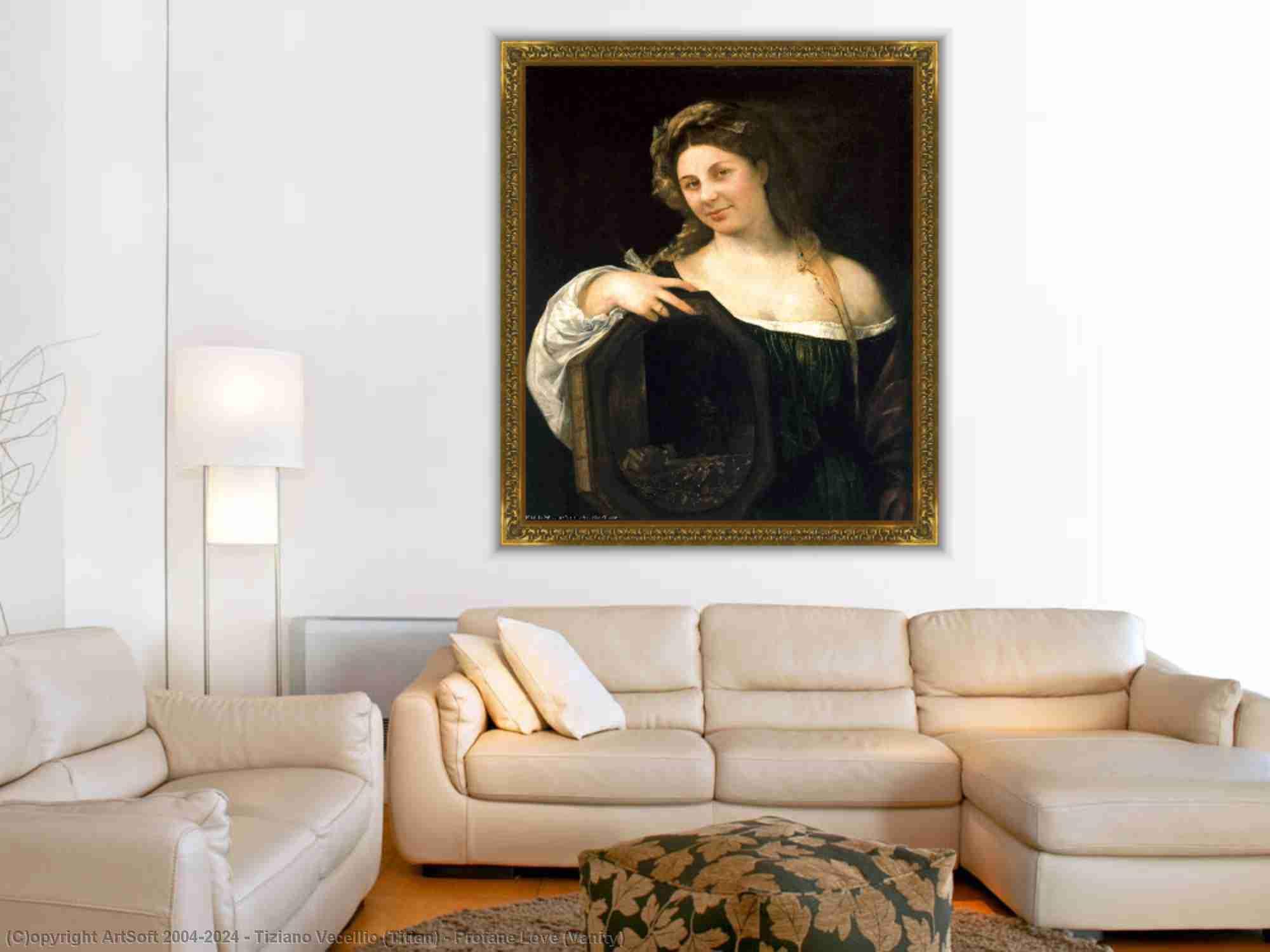 Tiziano Vecellio (Titian) - Irdische Liebe Einbildung
