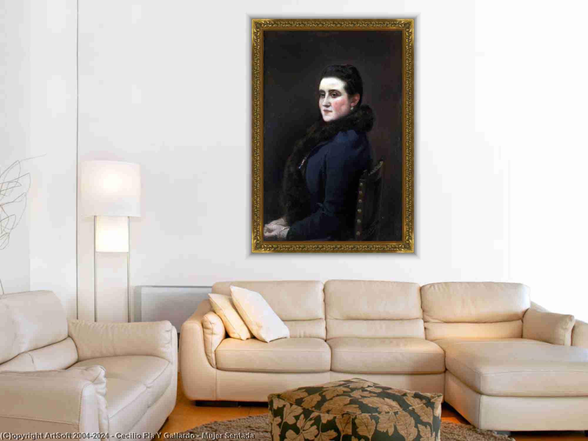 Cecilio Pla Y Gallardo - Mujer Sentada