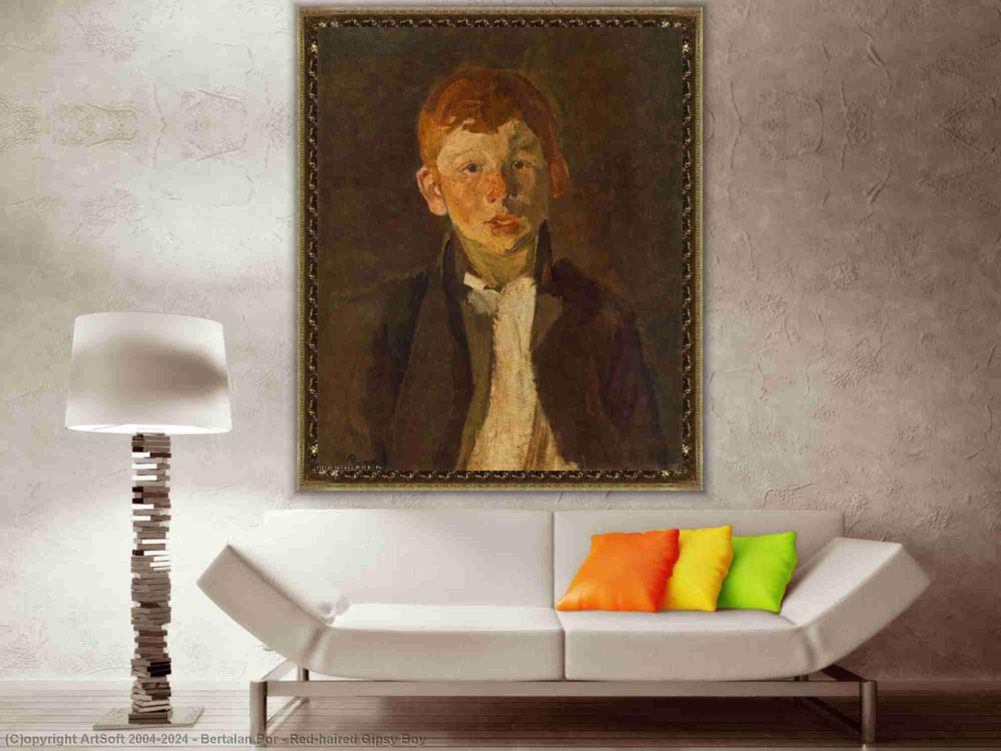 Bertalan Por - Red-haired Gipsy Boy
