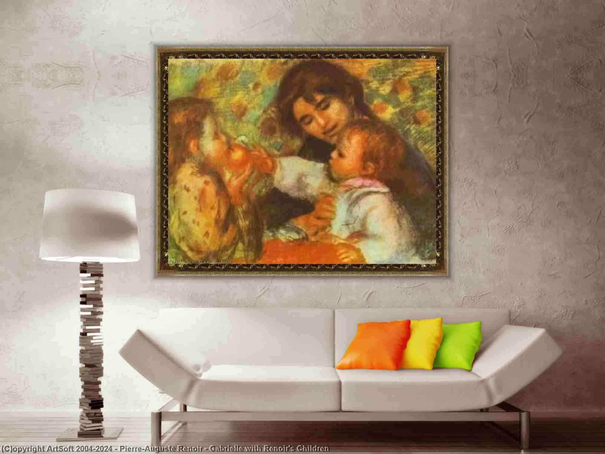 Pierre-Auguste Renoir - Gabrielle mit Renoirs Kinder
