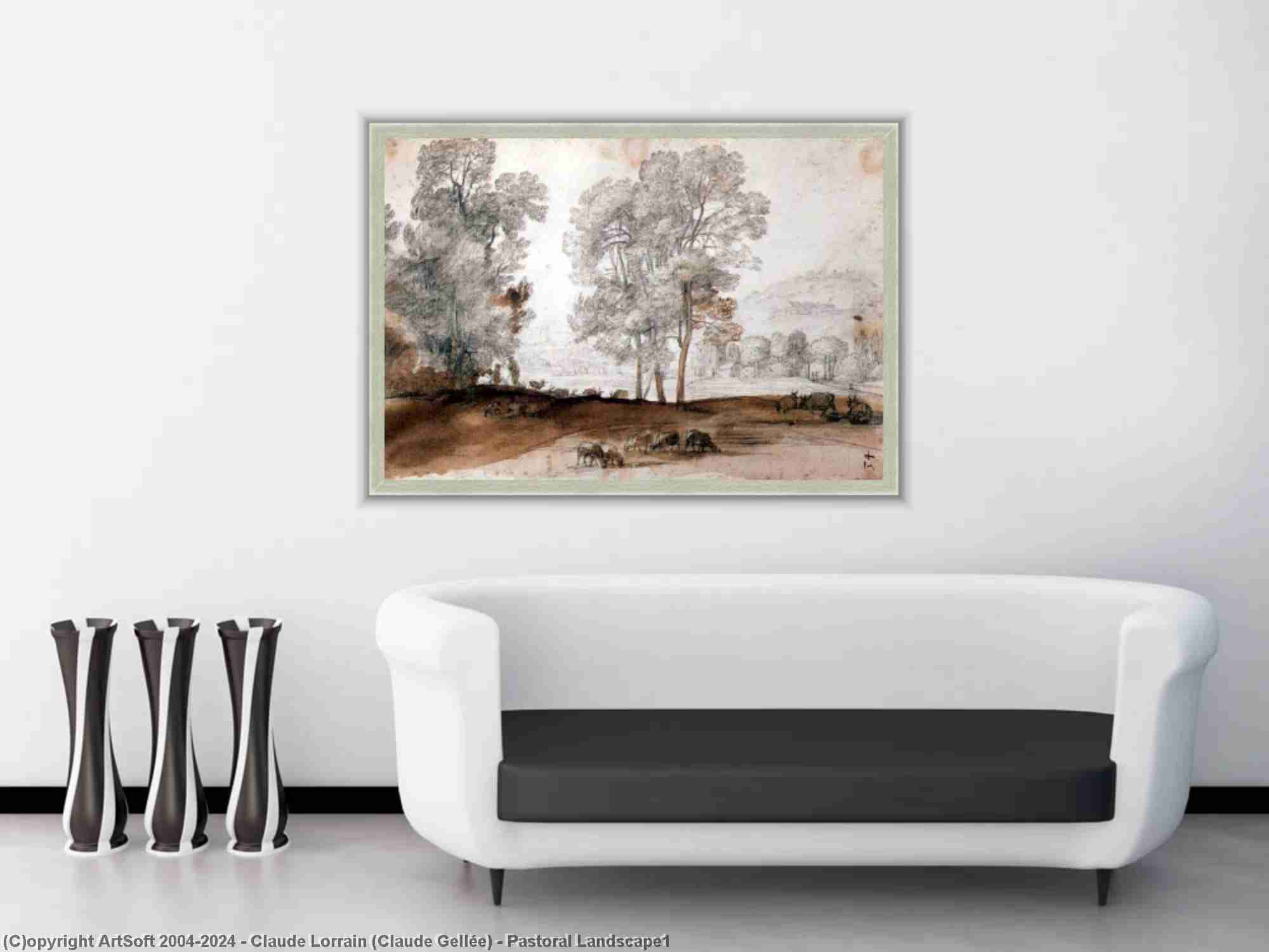 Claude Lorrain (Claude Gellée) - Pastoral Landscape1