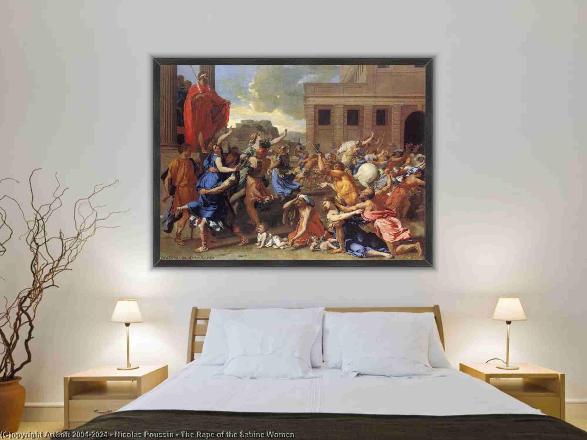 Nicolas Poussin - Il Ratto delle Sabine Donna