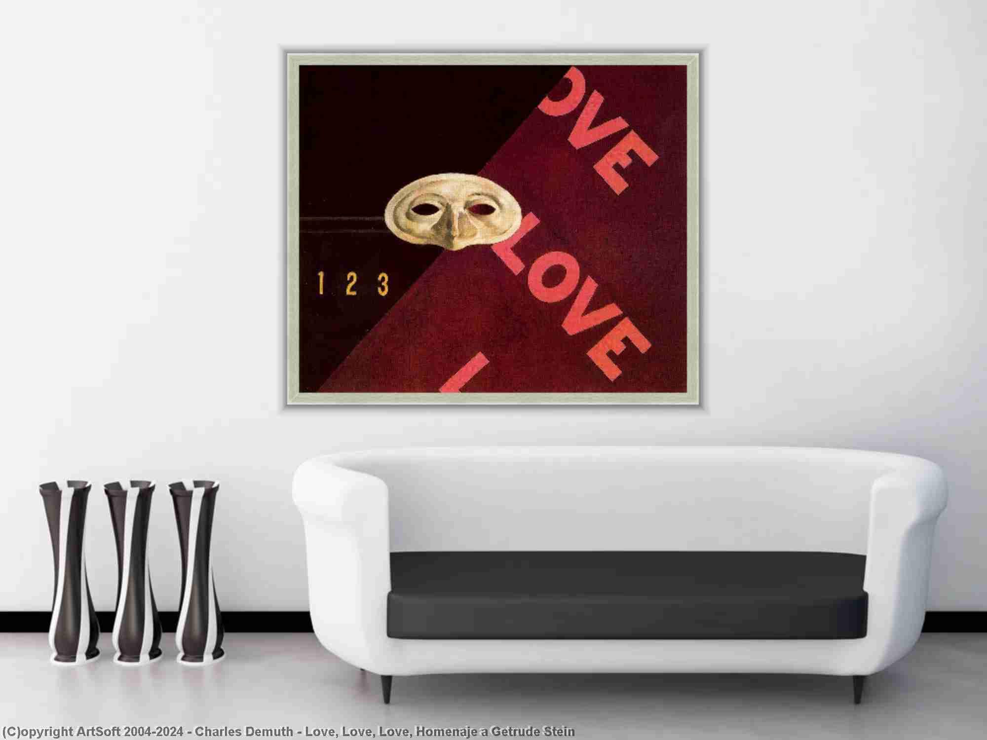 Charles Demuth - Love, Love, Love, Homenaje a Getrude Stein