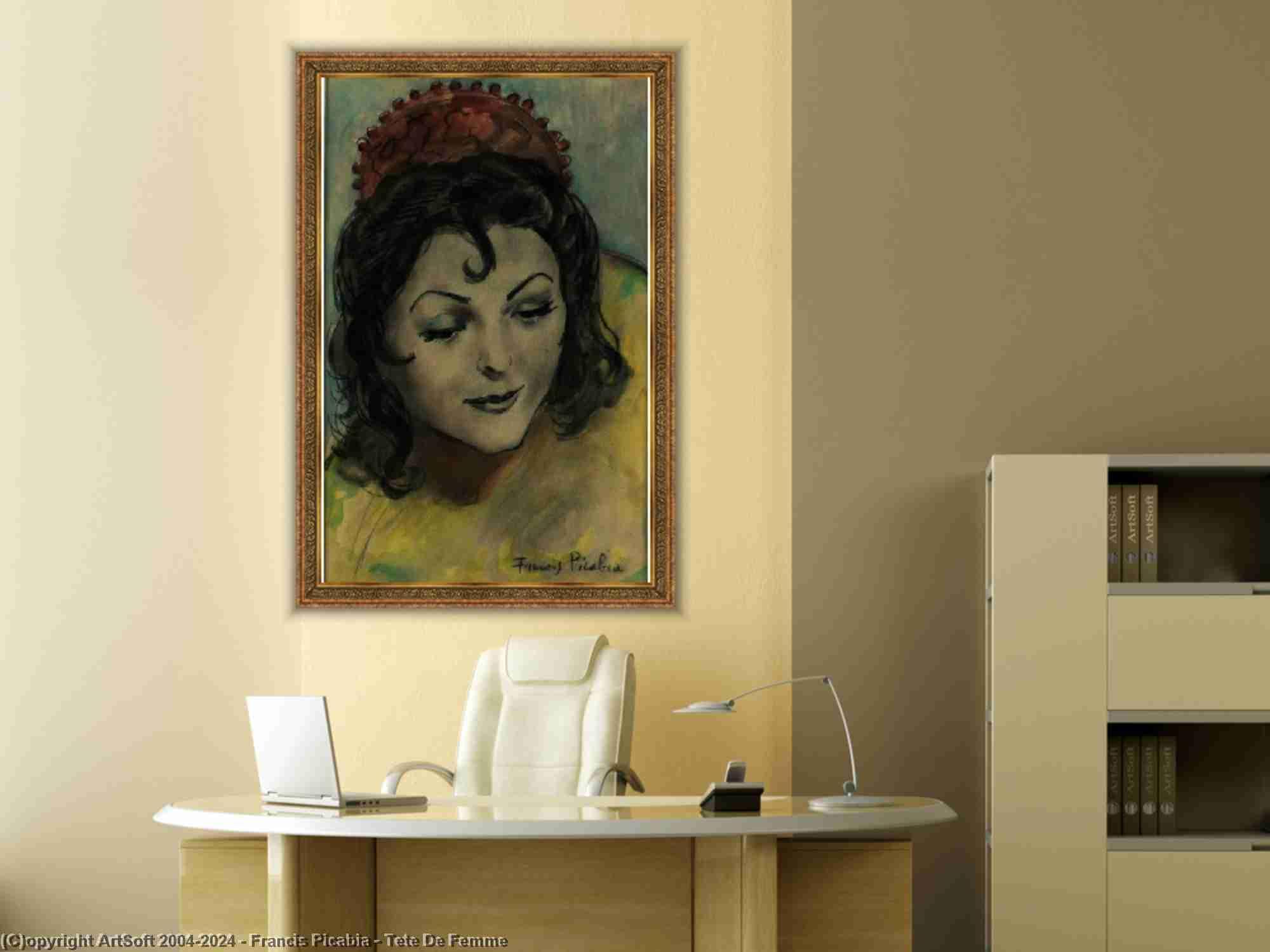Francis Picabia - Tête de femme