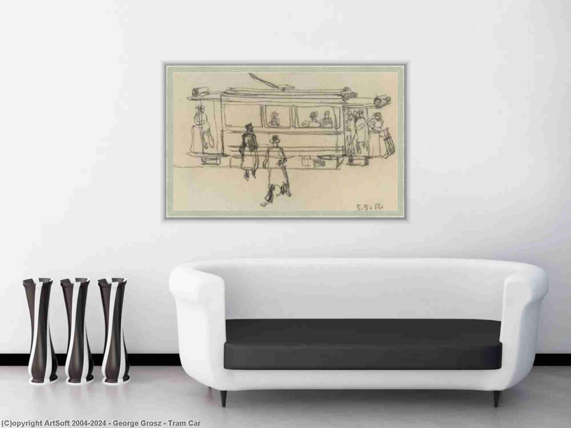 George Grosz - Tram de voitures