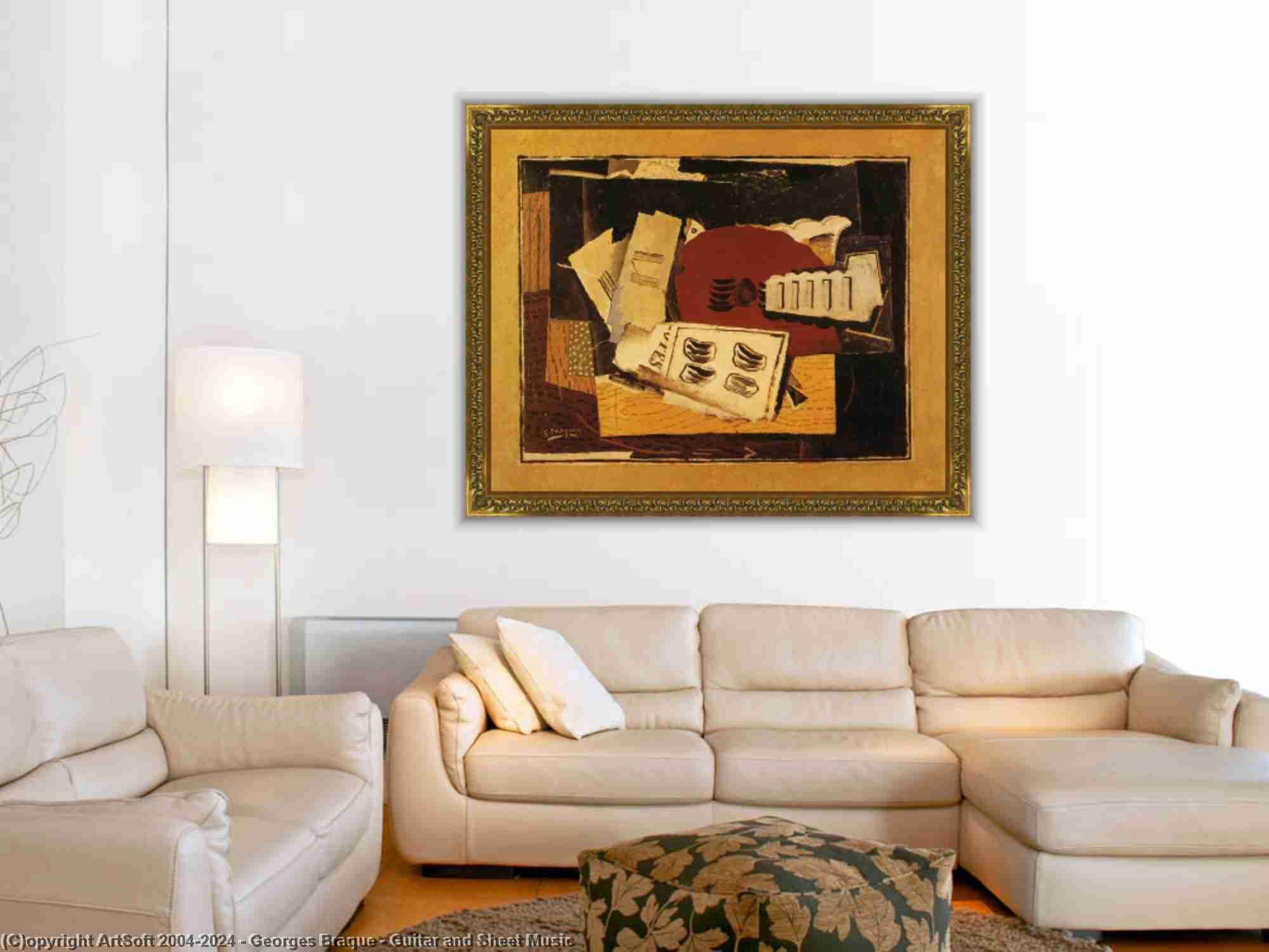 Georges Braque - guitarra y hoja música