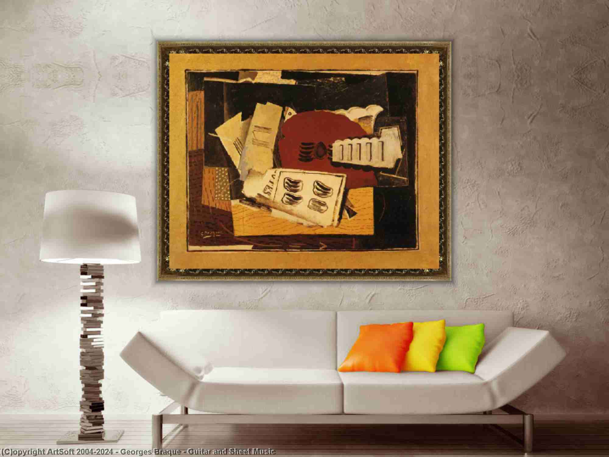 Georges Braque - chitarra e foglio musica