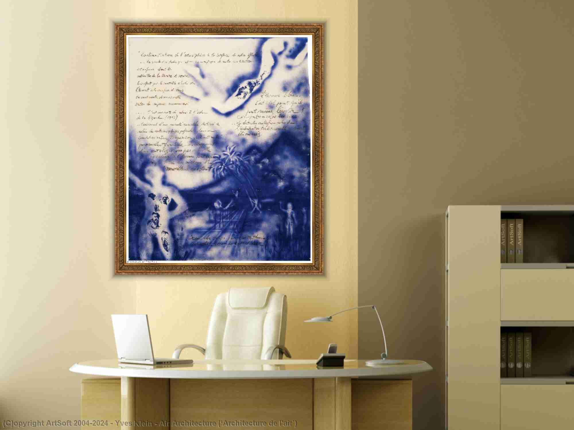 Yves Klein - architecture aérienne ( 'Architecture de l-air' )
