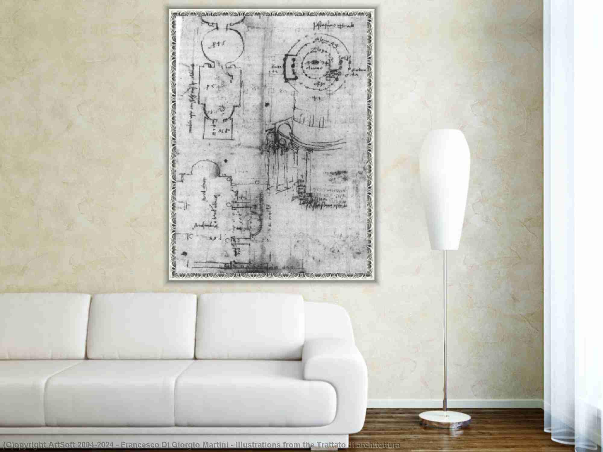 Francesco Di Giorgio Martini - Illustrazioni dal Trattato di architettura