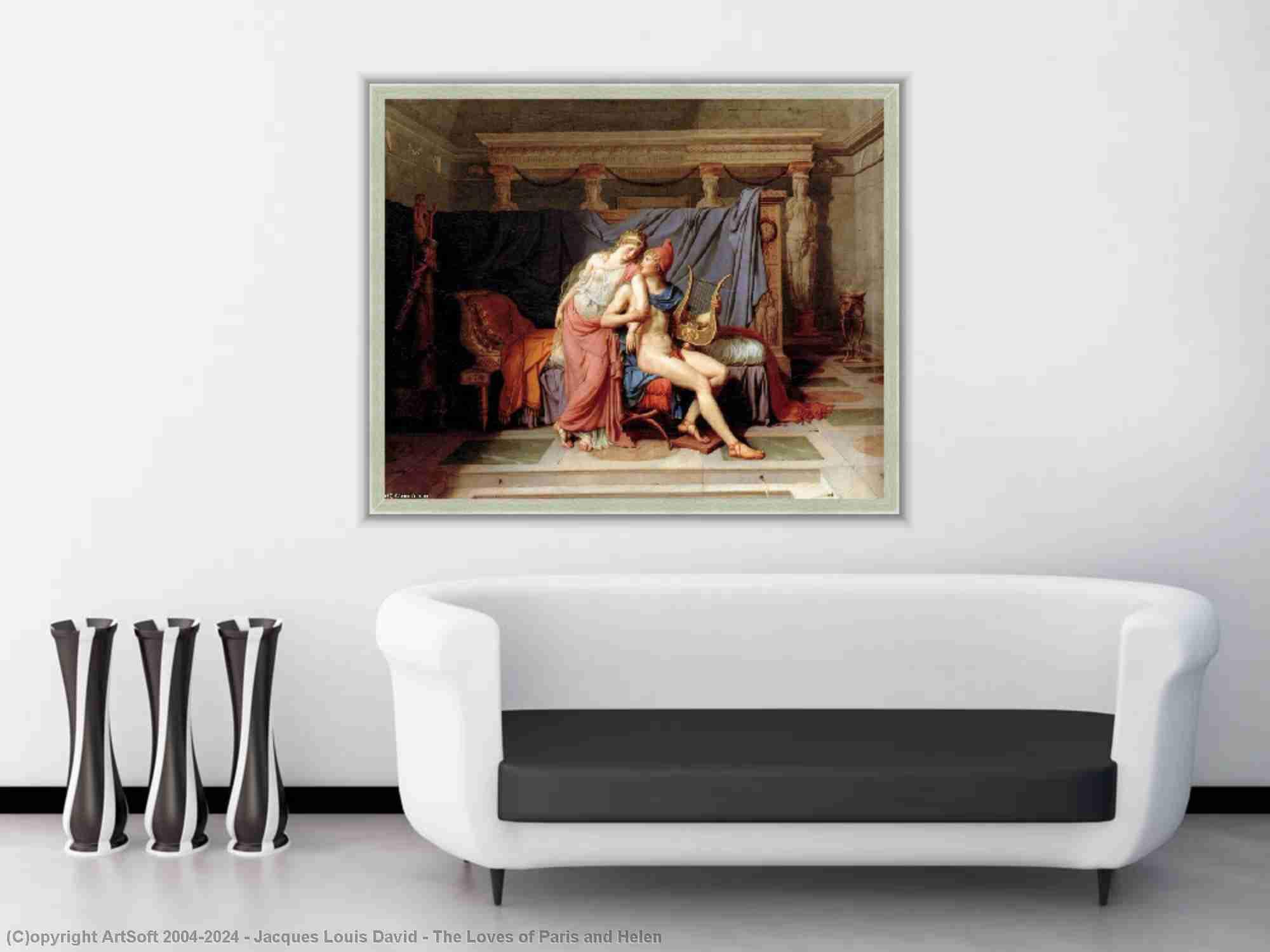 Jacques Louis David - gli amori di parigi e helen