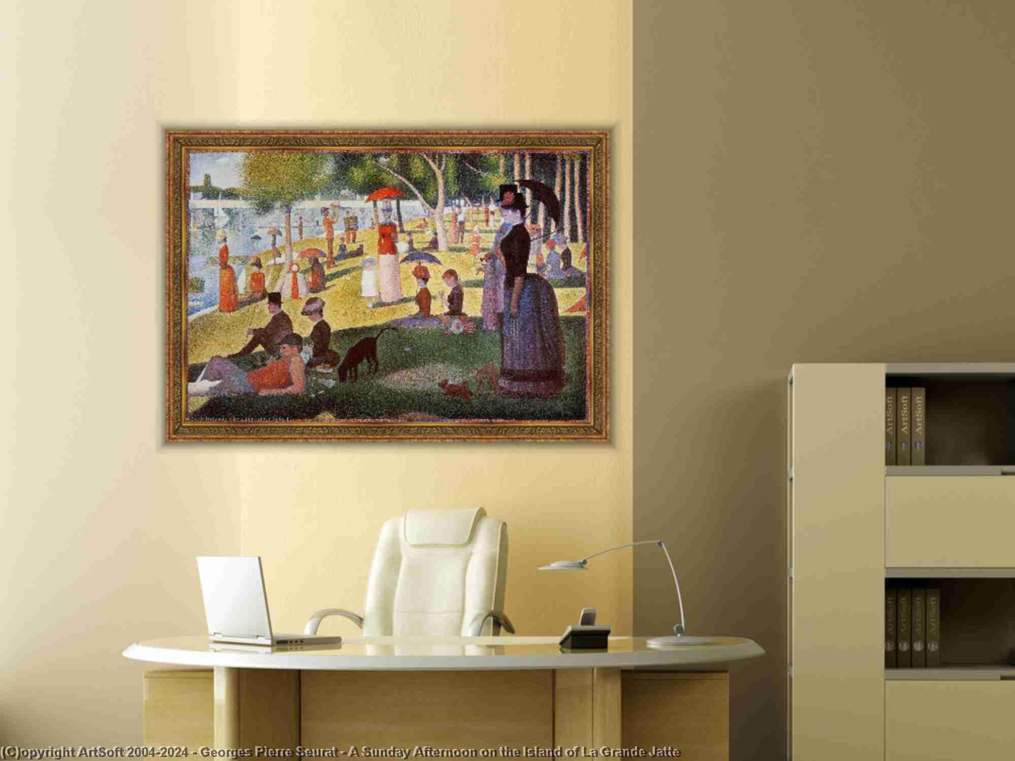 Georges Pierre Seurat - un dimanche après-midi sur l-île de la grande jatte
