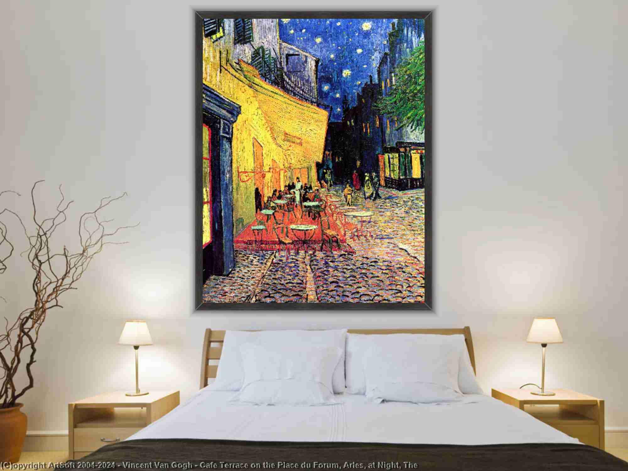 Vincent Van Gogh - café-terrasse auf dem place du forum , Arles , in der nacht , Der