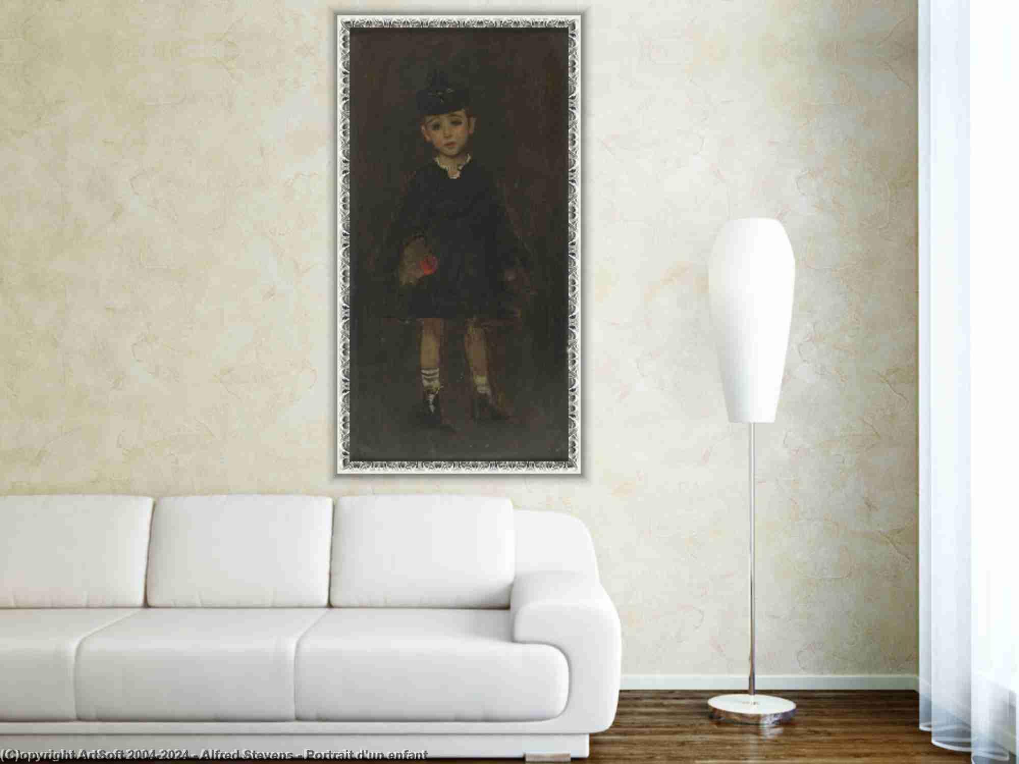 Alfred Stevens - Portrait d-un enfant