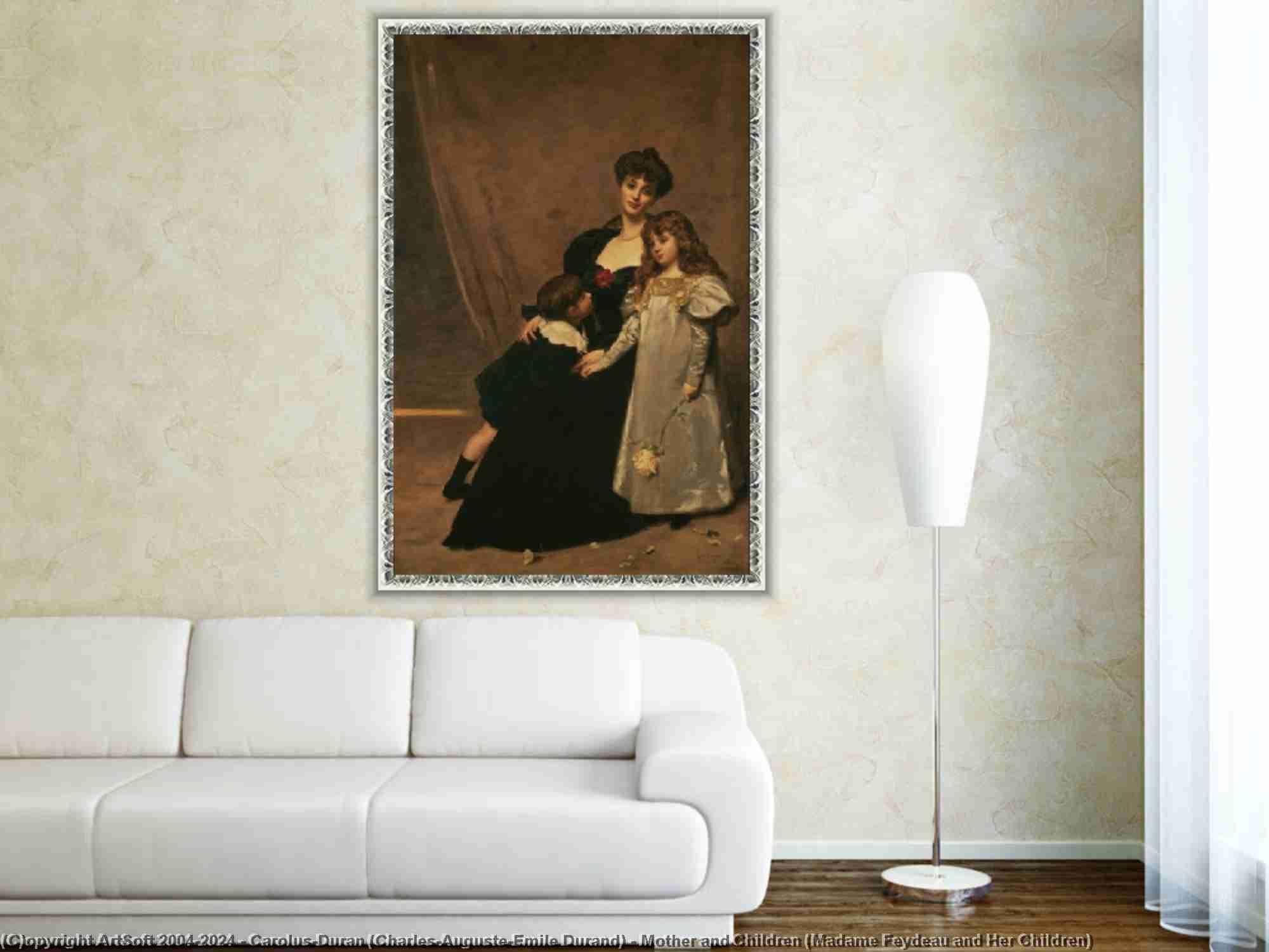 Carolus-Duran (Charles-Auguste-Emile Durand) - Mother and Children (Madame Feydeau and Her Children)