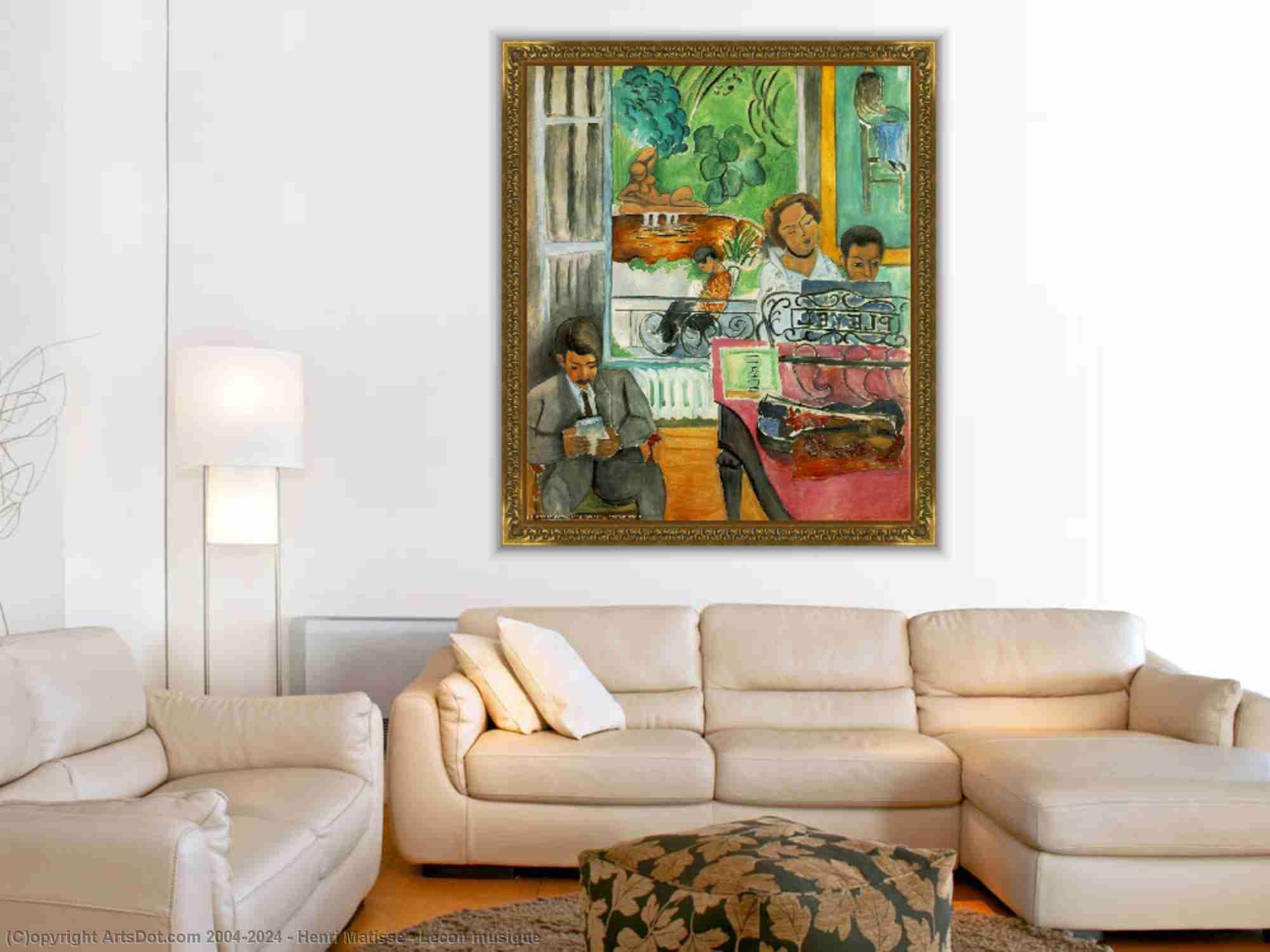 Henri Matisse - Lecon musique