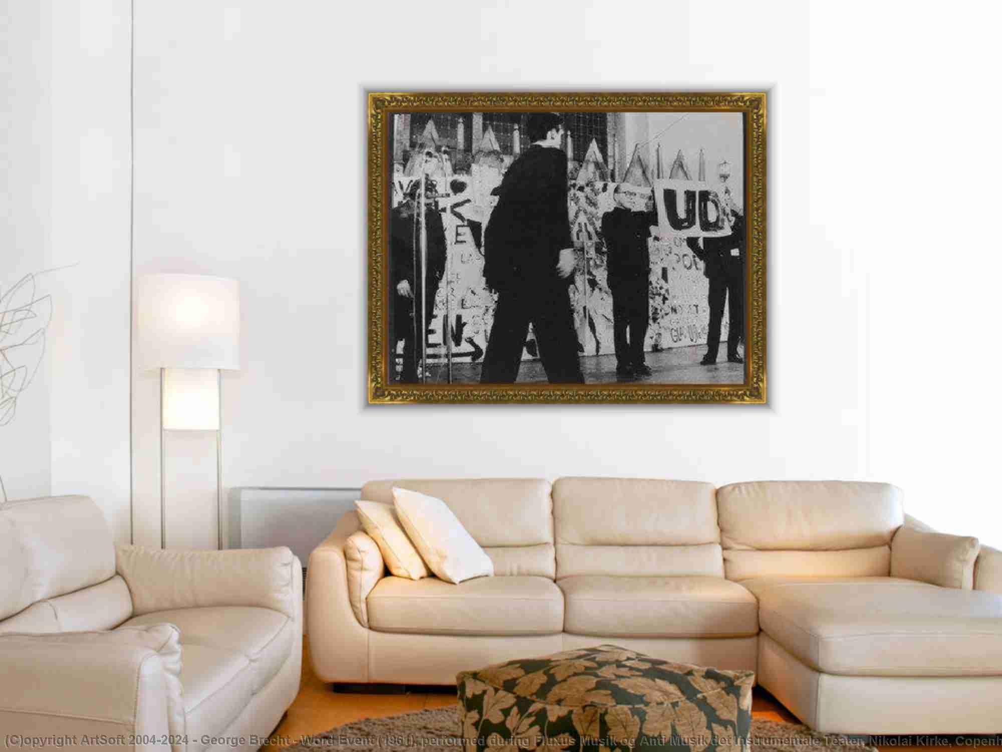 George Brecht - Datenwort Ereignis ( 1961 ) , aufgeführt während fluxus musik und anti musik det instrumentale teater , nikolai kirke , Kopenhagen , November 23 , 1962