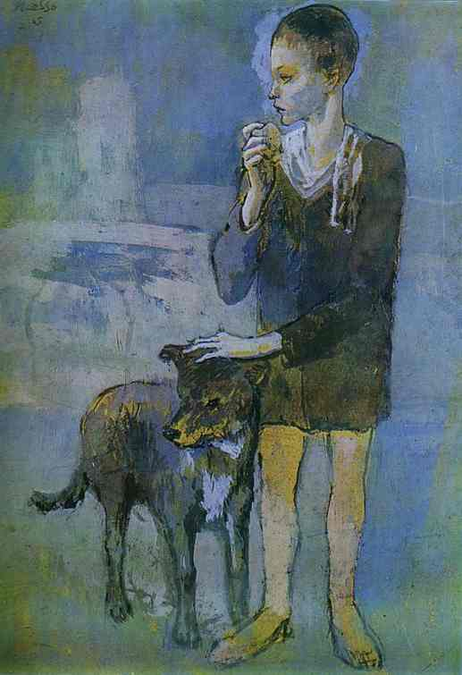 pablo picasso pictures. Pablo Picasso - Boy with a Dog