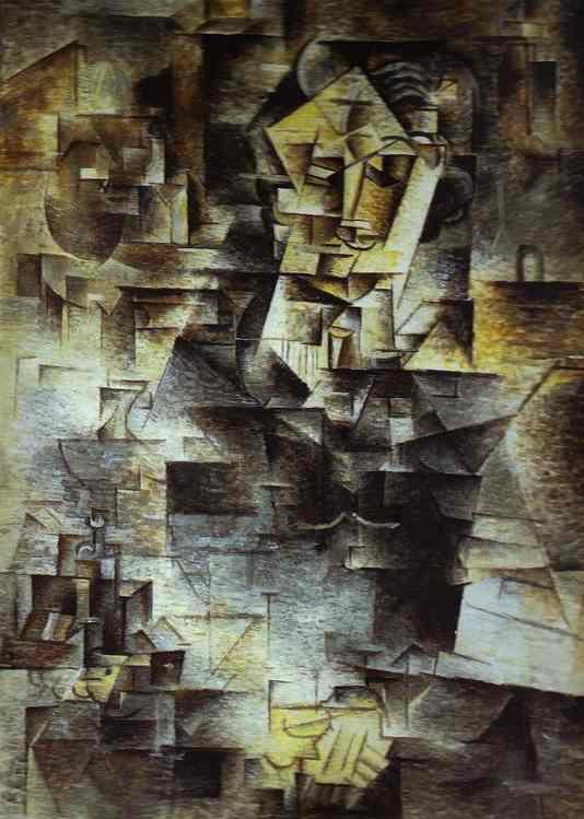 picasso cubism portrait. Pablo Picasso - Portrait of