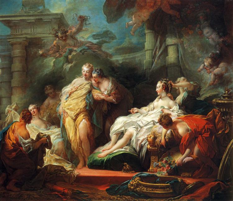 amor and psyche. Jean-Honoré Fragonard - Psyche