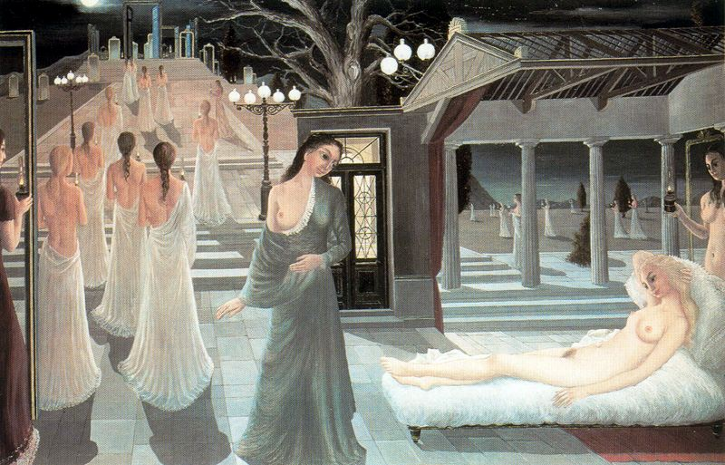 Paul Delvaux [Belgian Surrealist Painter, 1897-1994] | Arts Oil