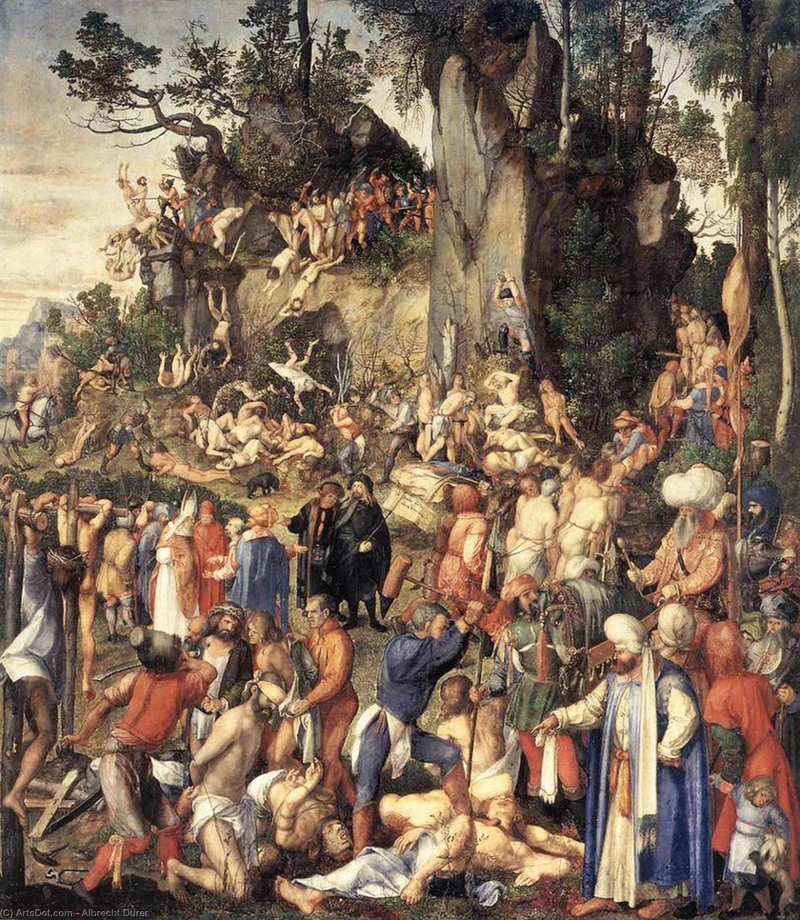 The Martyrdom of the Ten Thousand, 1508 by Albrecht Durer (1471-1528, Italy) | Museum Quality Reproductions | ArtsDot.com