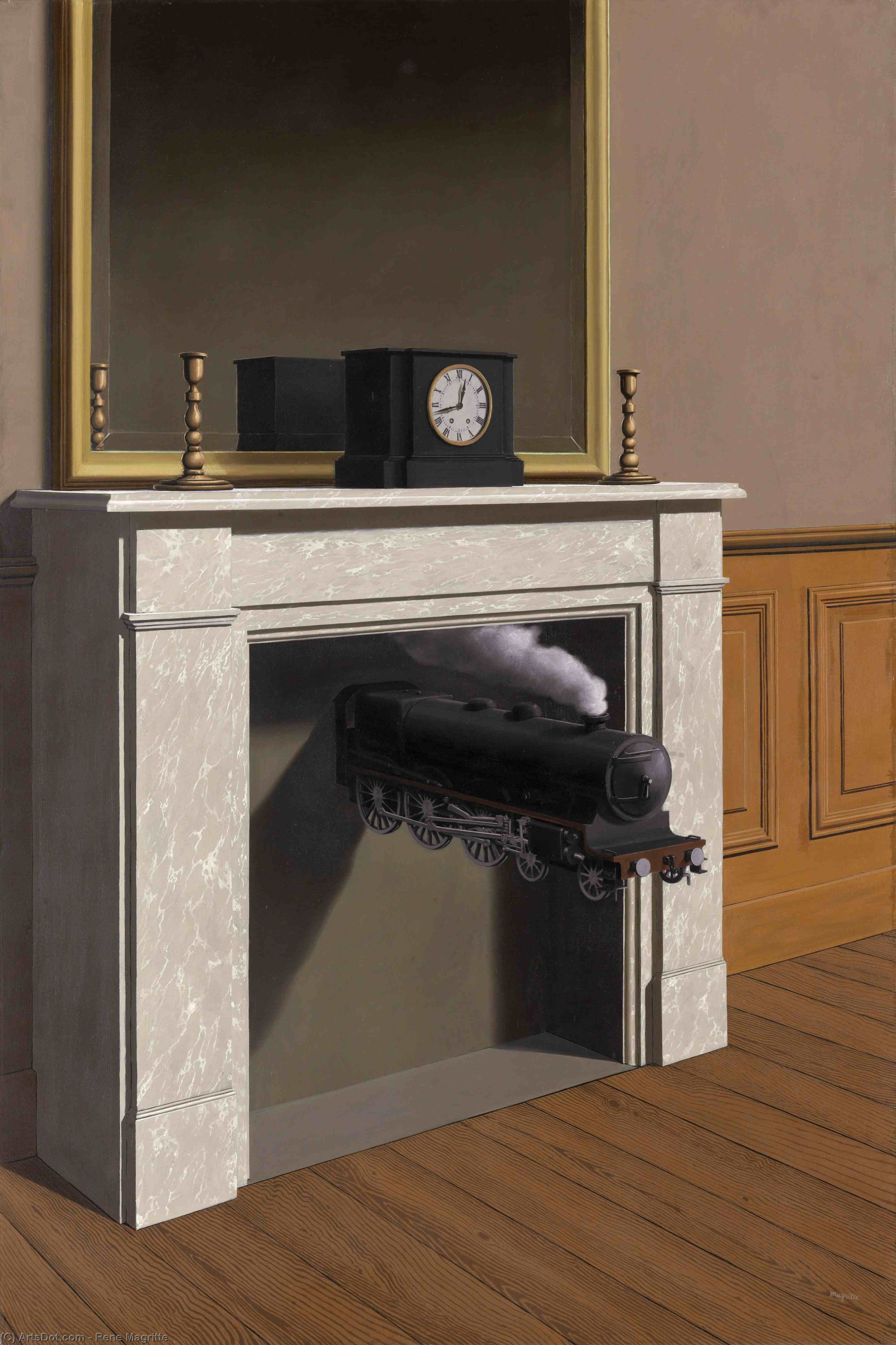 Time transfixed, 1938 by Rene Magritte (1898-1967, Belgium) | Oil Painting | ArtsDot.com