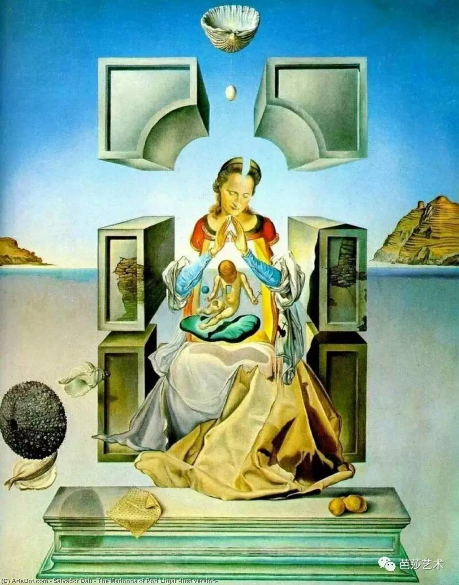 The Madonna of Port Lligat (first version), 1950 by Salvador Dali (1938-1989, Spain) | Museum Art Reproductions | ArtsDot.com