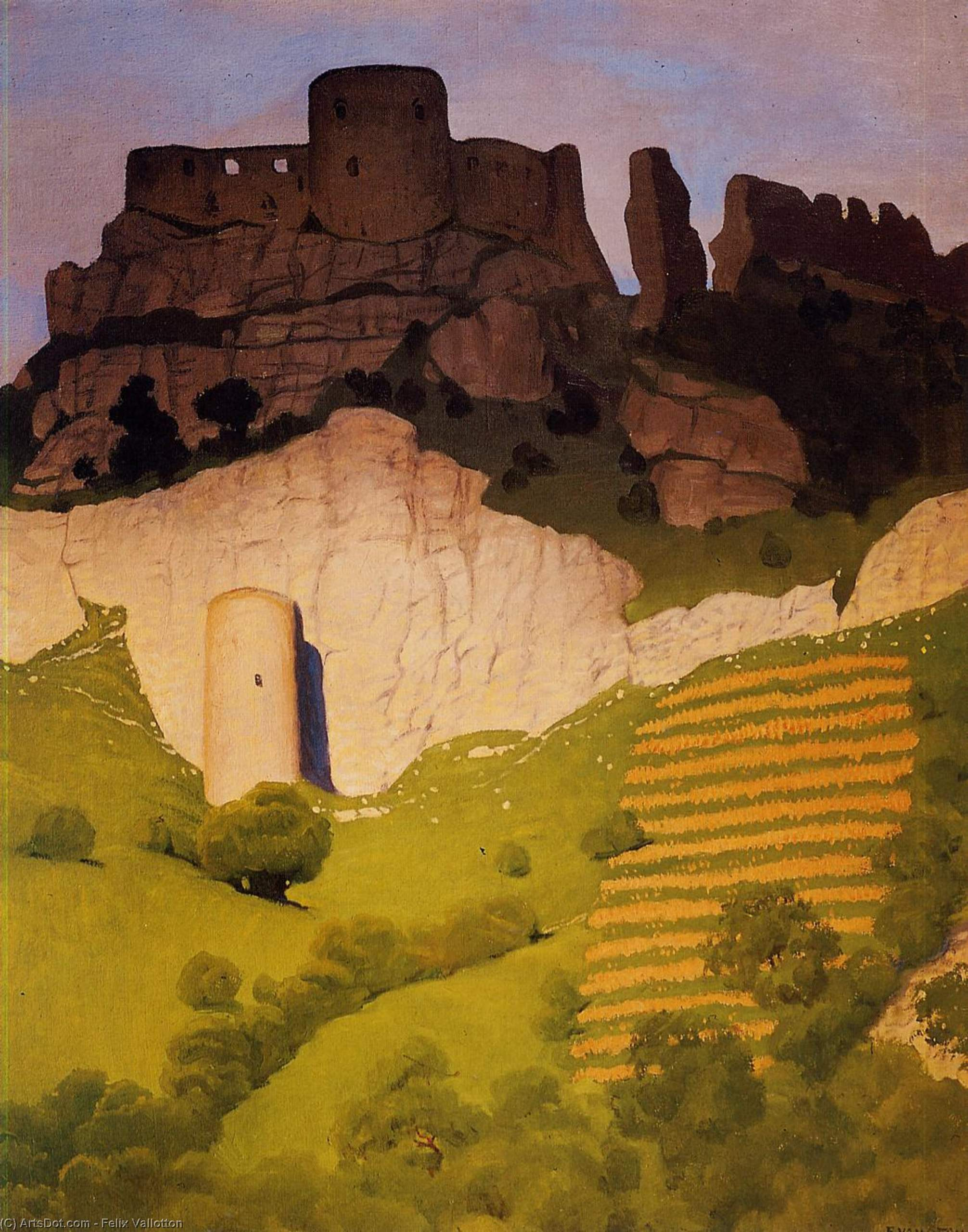 Chateau Gaillard at Andelys, 1924 by Felix Vallotton (1865 ...