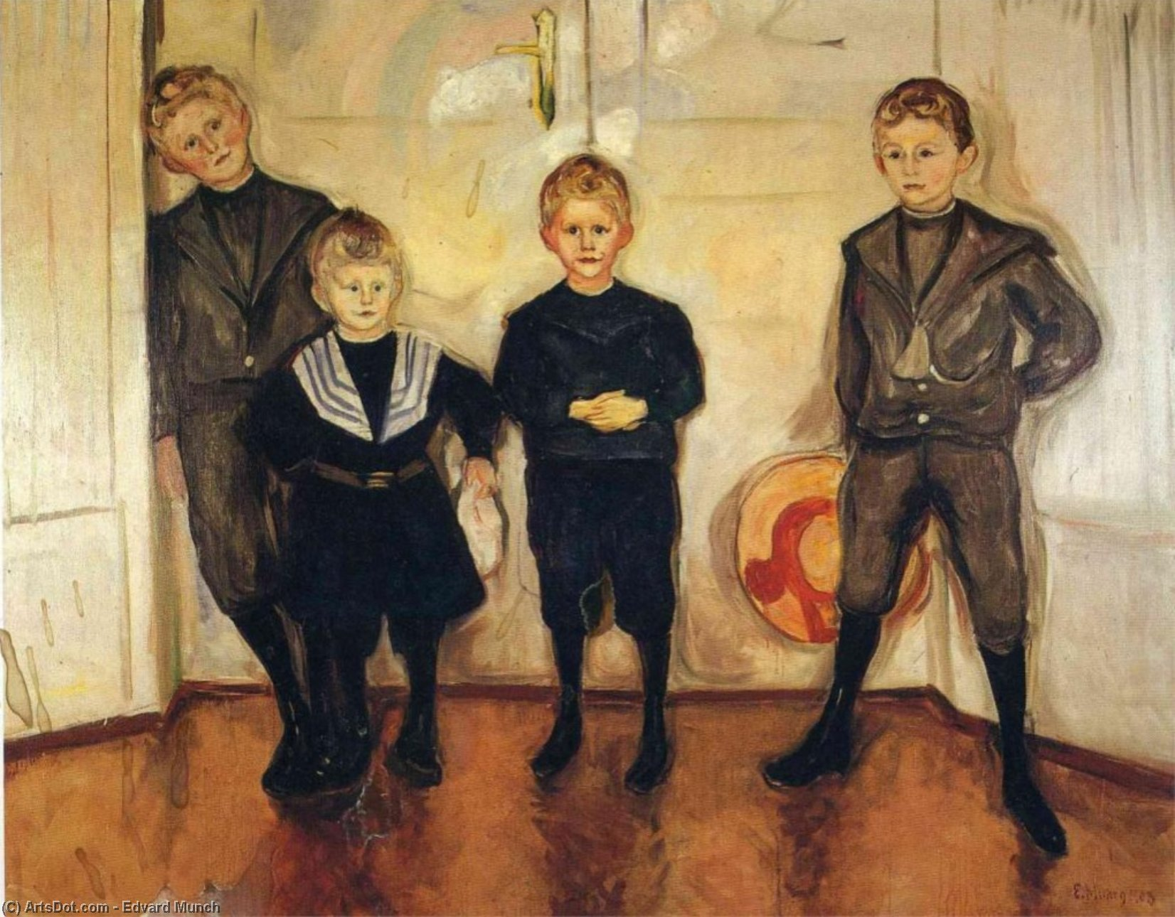 The Four Sons of Dr. Linde, 1903 by Edvard Munch (1863-1944, Sweden) | Painting Copy | ArtsDot.com