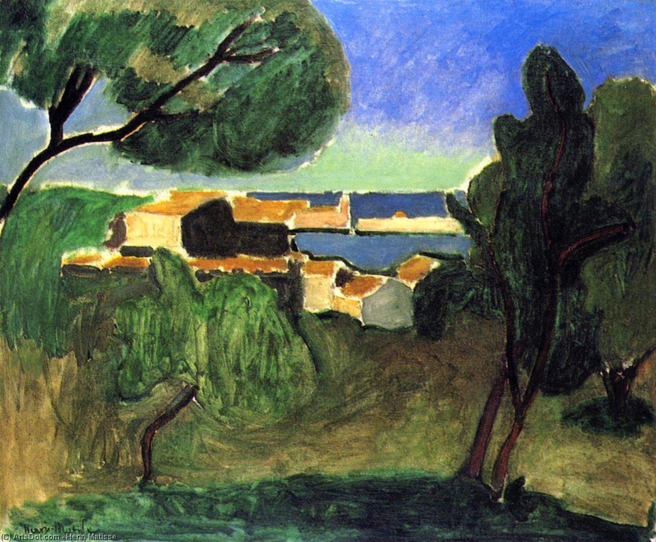 paesaggio a collisione, 1907 di Henri Matisse 1869 1954 ...