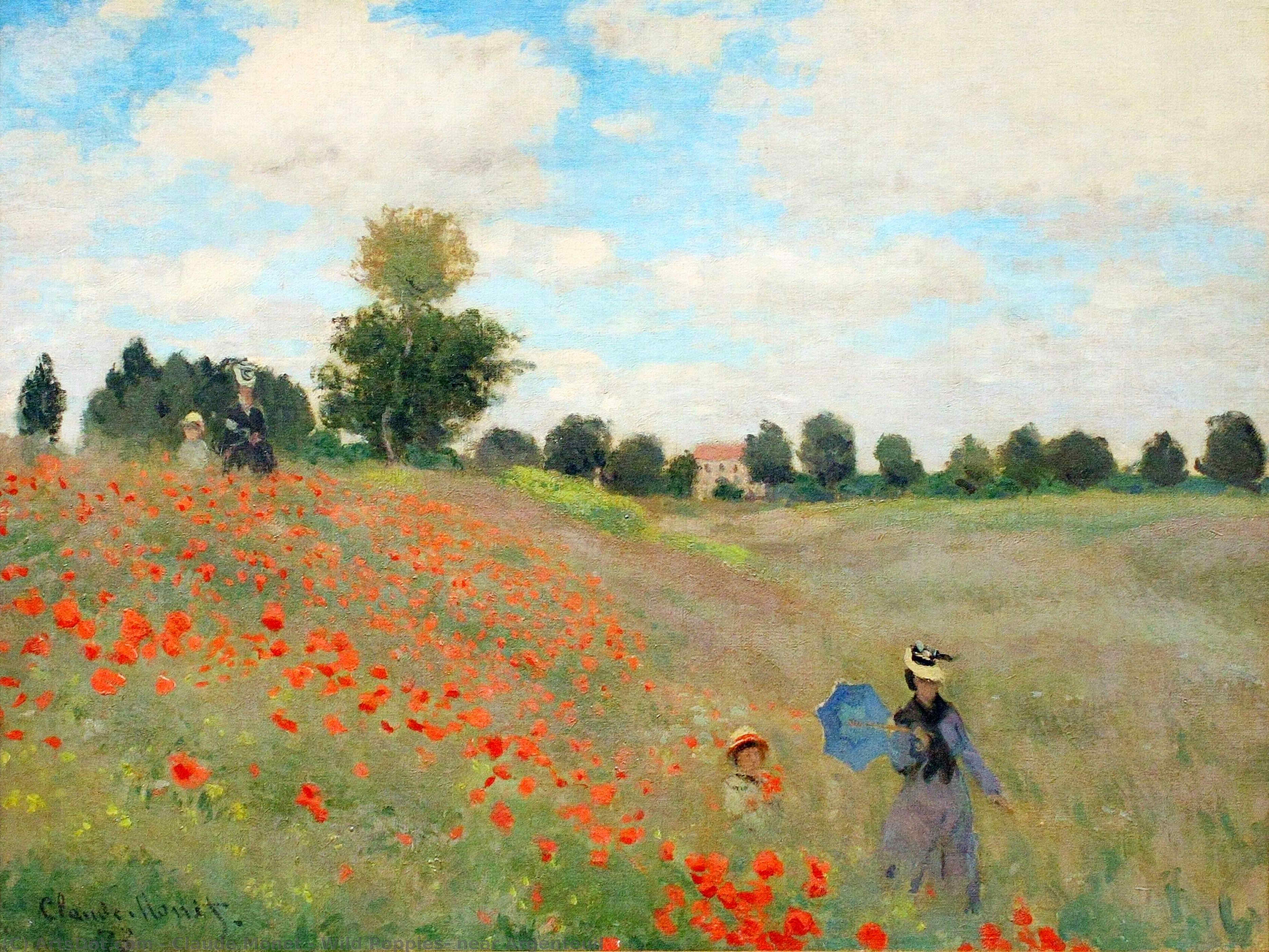 Wild Poppies, near Argenteuil, 1873 by Claude Monet (1840-1926, France) | Museum Art Reproductions Claude Monet | ArtsDot.com