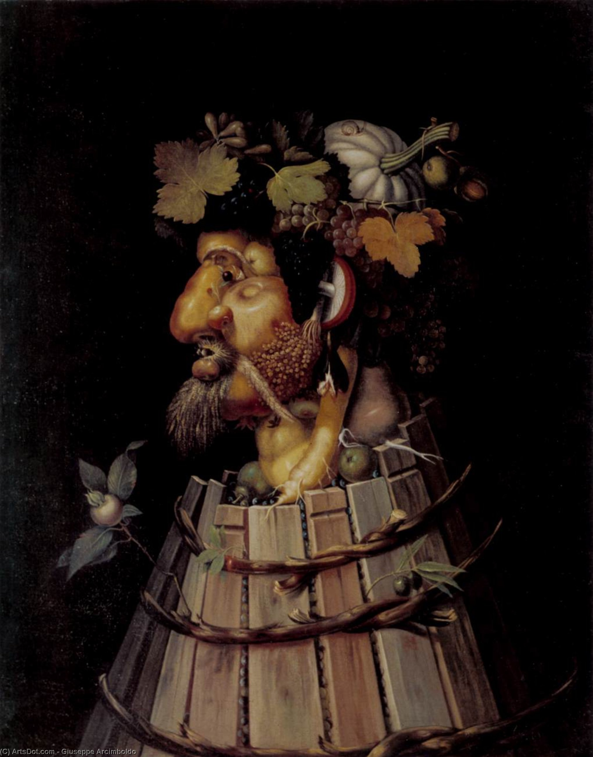 automne, 1572 de Giuseppe Arcimboldo (1527-1593, Italy) | Reproductions D'œuvres D'art Giuseppe ...