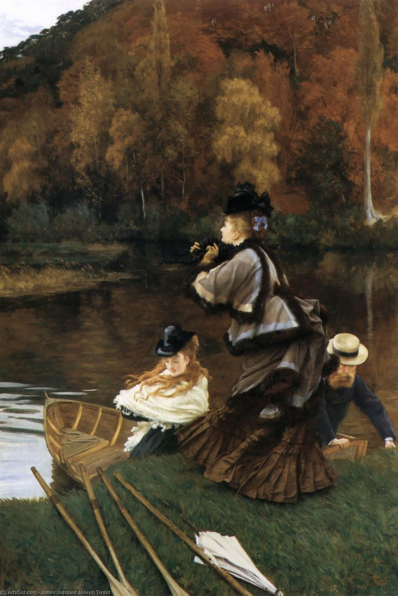 Autumn on the Thames, 1872 by James Jacques Joseph Tissot (1836-1902, France) | Museum Art Reproductions | ArtsDot.com