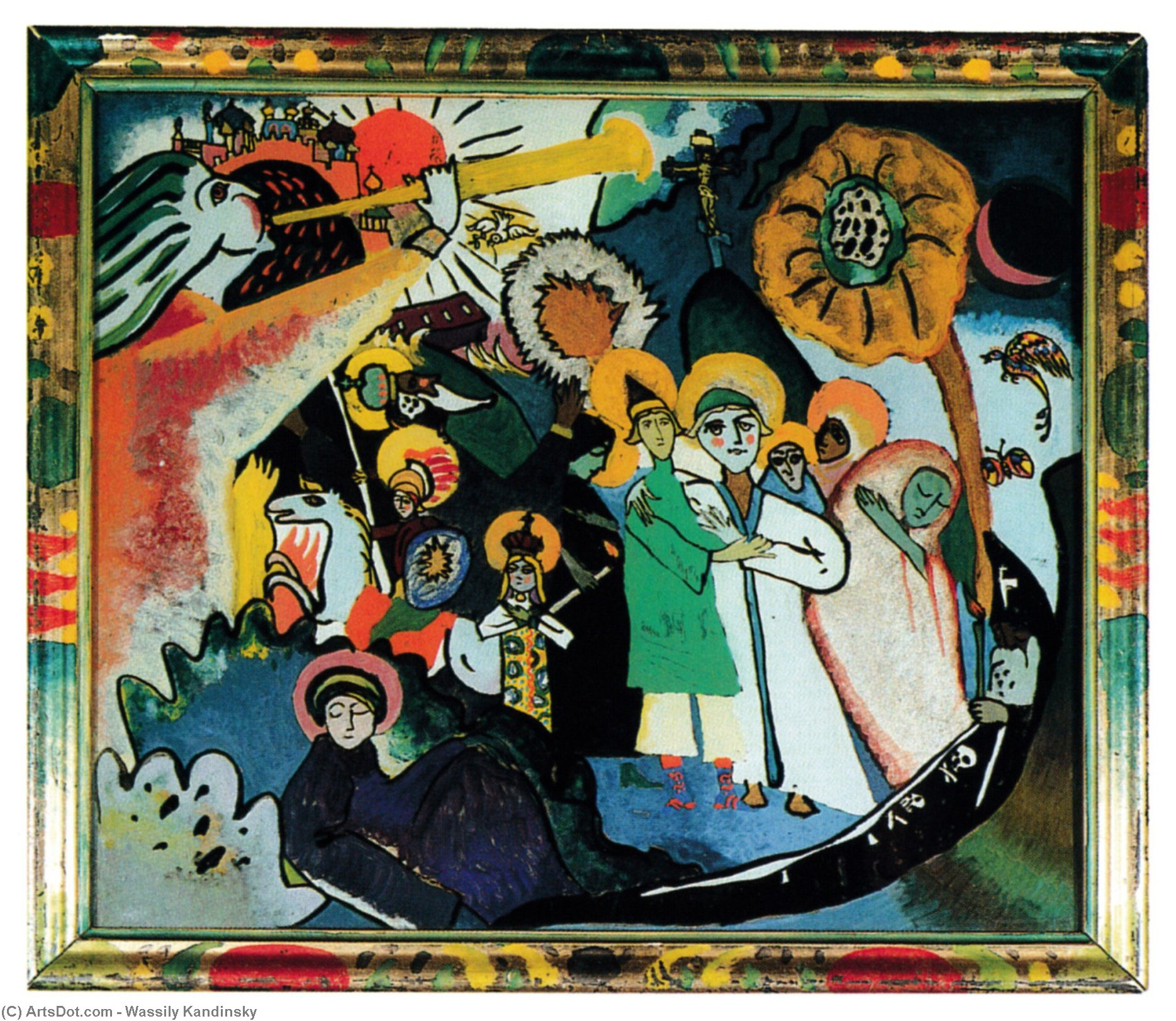 All Saints day I, 1911 by Wassily Kandinsky (1866-1944, Russia) | Art Reproductions Wassily Kandinsky | ArtsDot.com