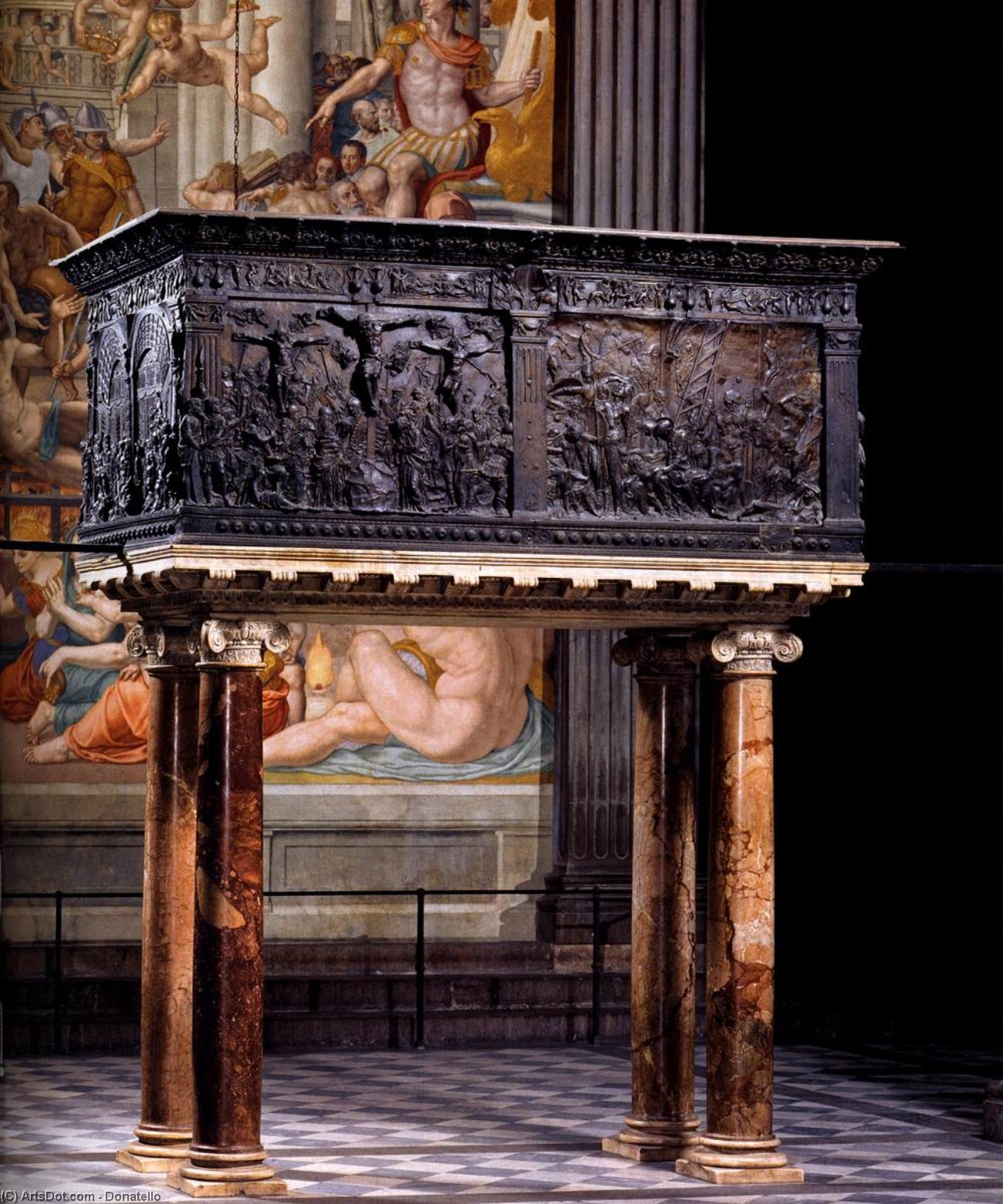 South pulpit, 1460 by Donatello (1386-1466, Italy) | Painting Copy | ArtsDot.com