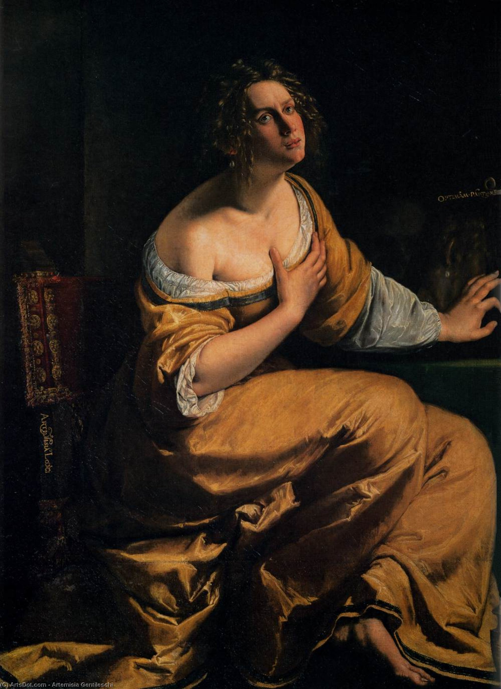 The Penitent Mary Magdalen, 1620 by Artemisia Gentileschi (1593-1653, Italy) | Painting Copy | ArtsDot.com
