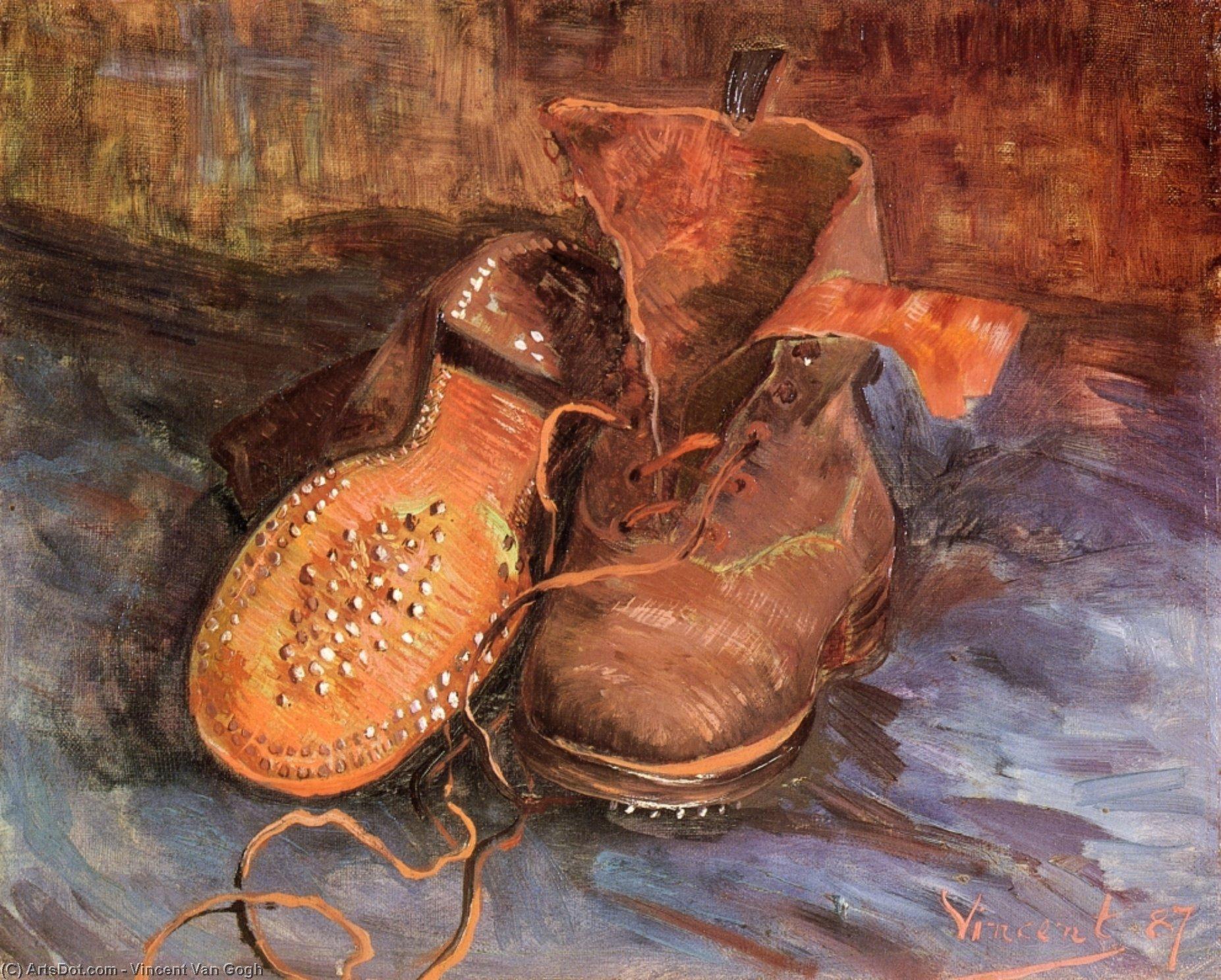 un paio di scarpe , 1887 di Vincent Van Gogh (1853 1890