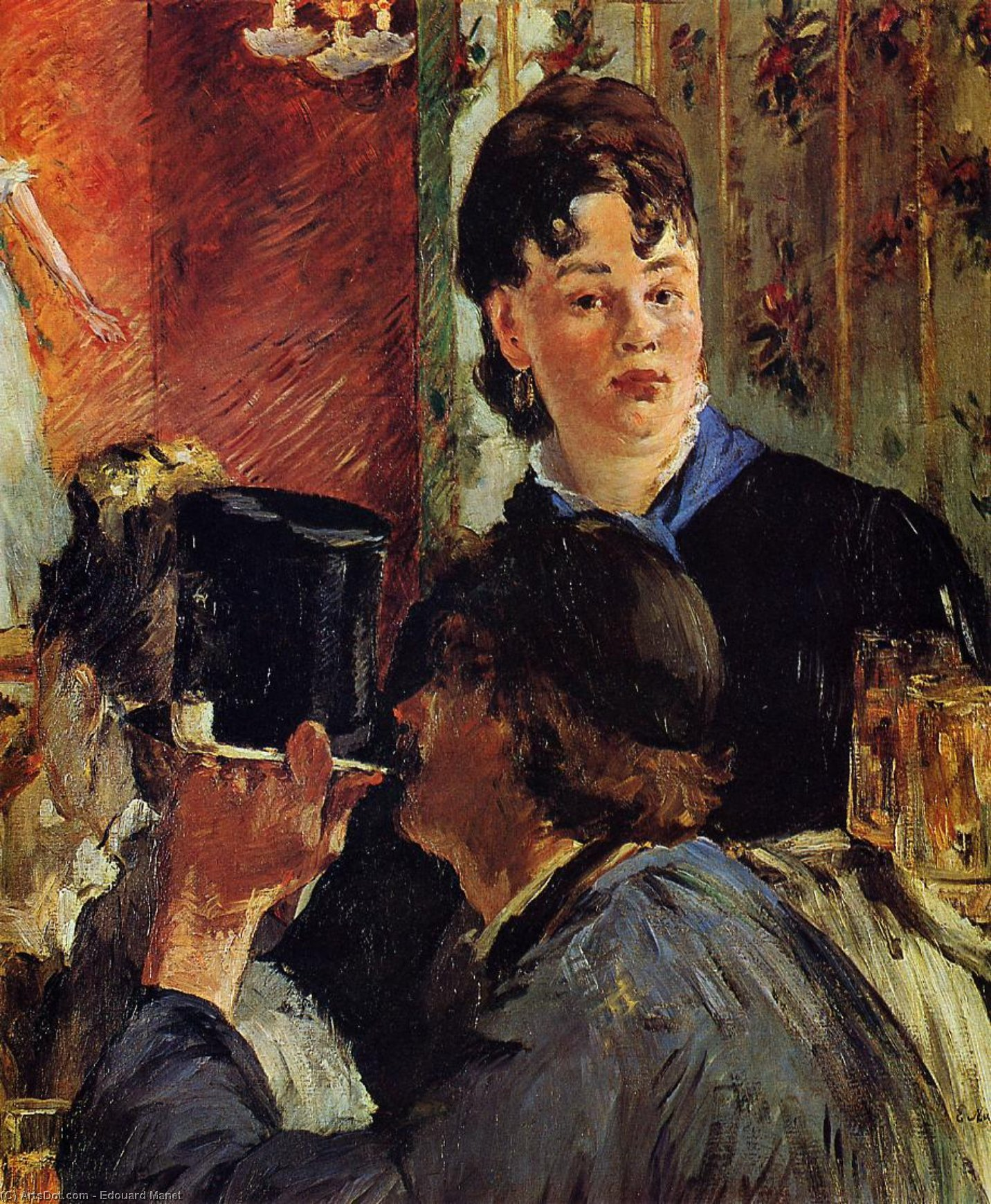 The Waitress (also known as The Beer Serving Girl), 1878 by Edouard Manet (1832-1883, France) | Museum Quality Copies Edouard Manet | ArtsDot.com