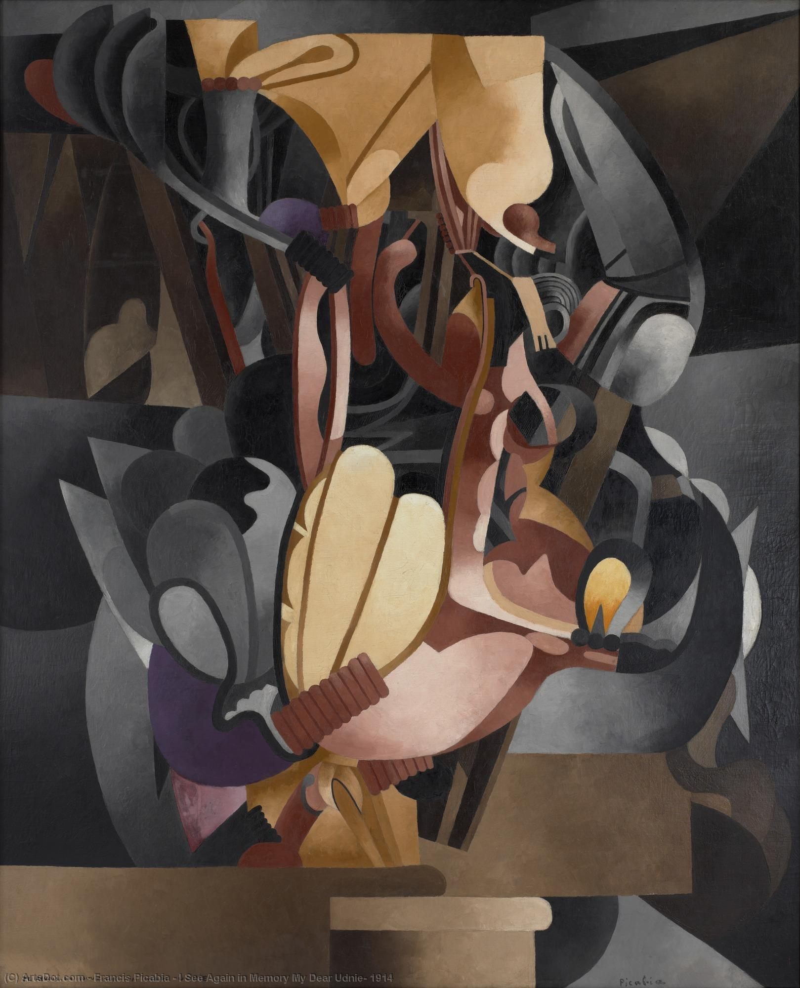 I See Again in Memory My Dear Udnie, 1914 by Francis Picabia (1879-1953, France) | Painting Copy | ArtsDot.com