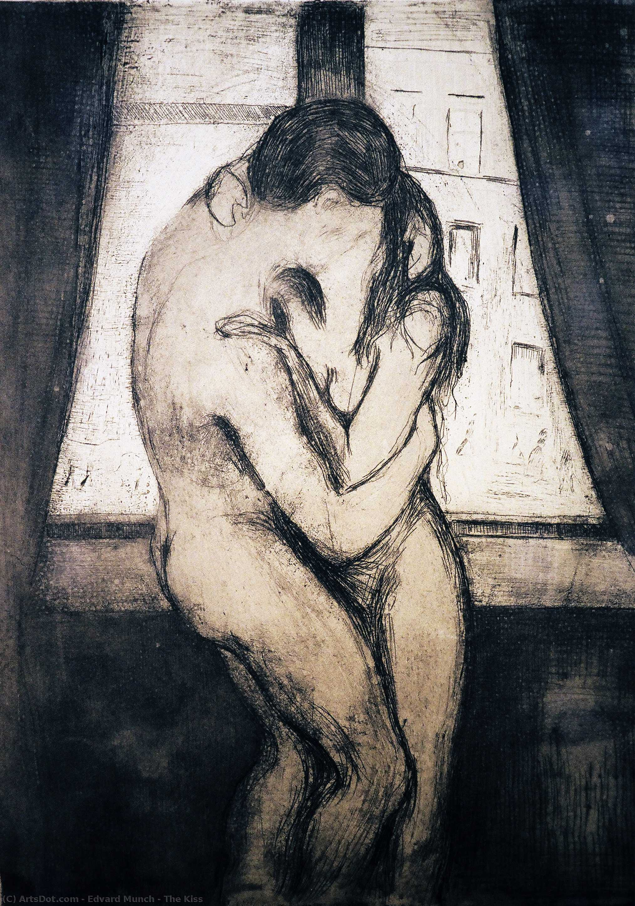 The Kiss, 1895 by Edvard Munch (1863-1944, Sweden) | Oil Painting | ArtsDot.com