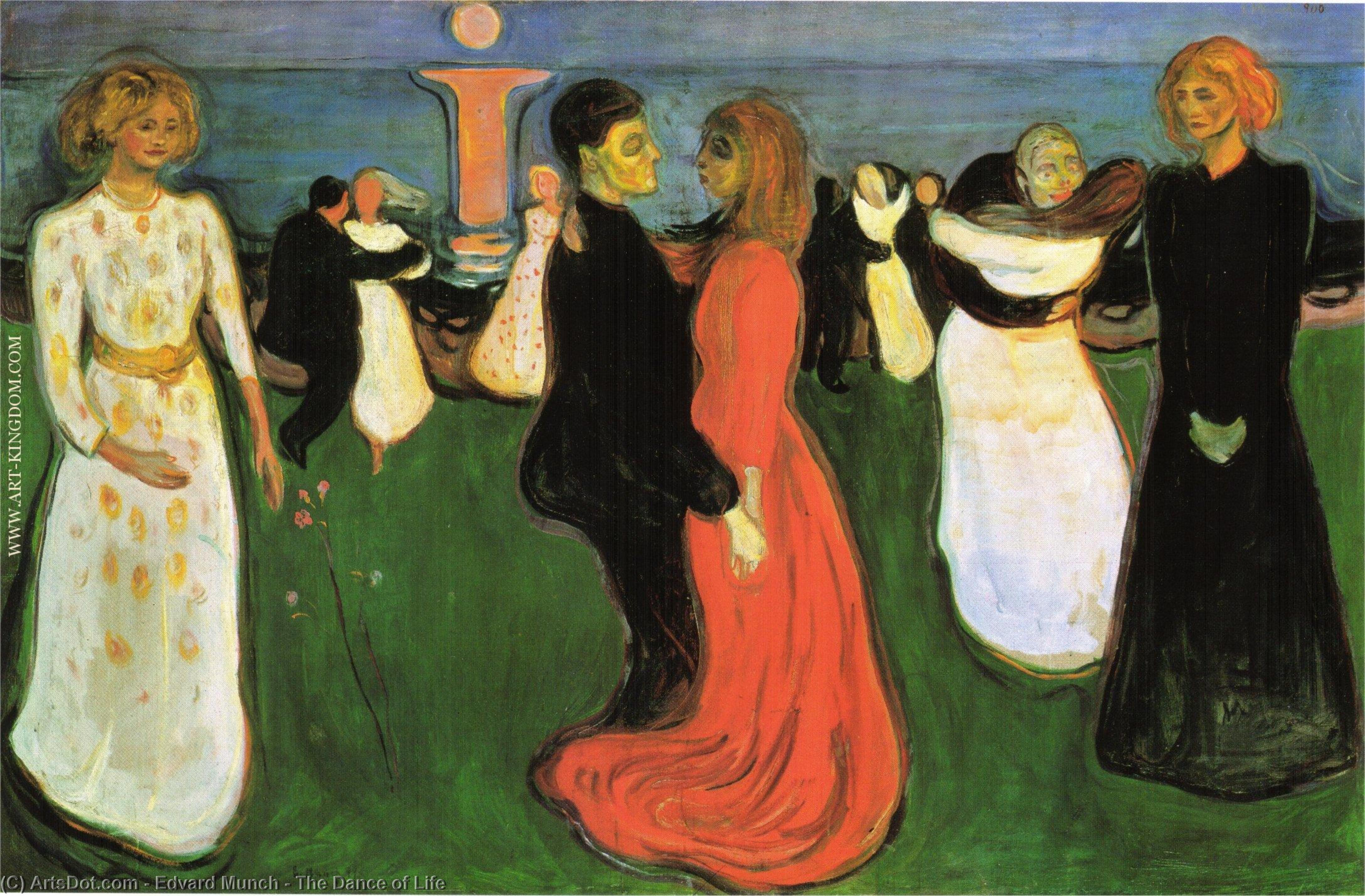 The Dance of Life, 1899 by Edvard Munch (1863-1944, Sweden) | Painting Copy | ArtsDot.com