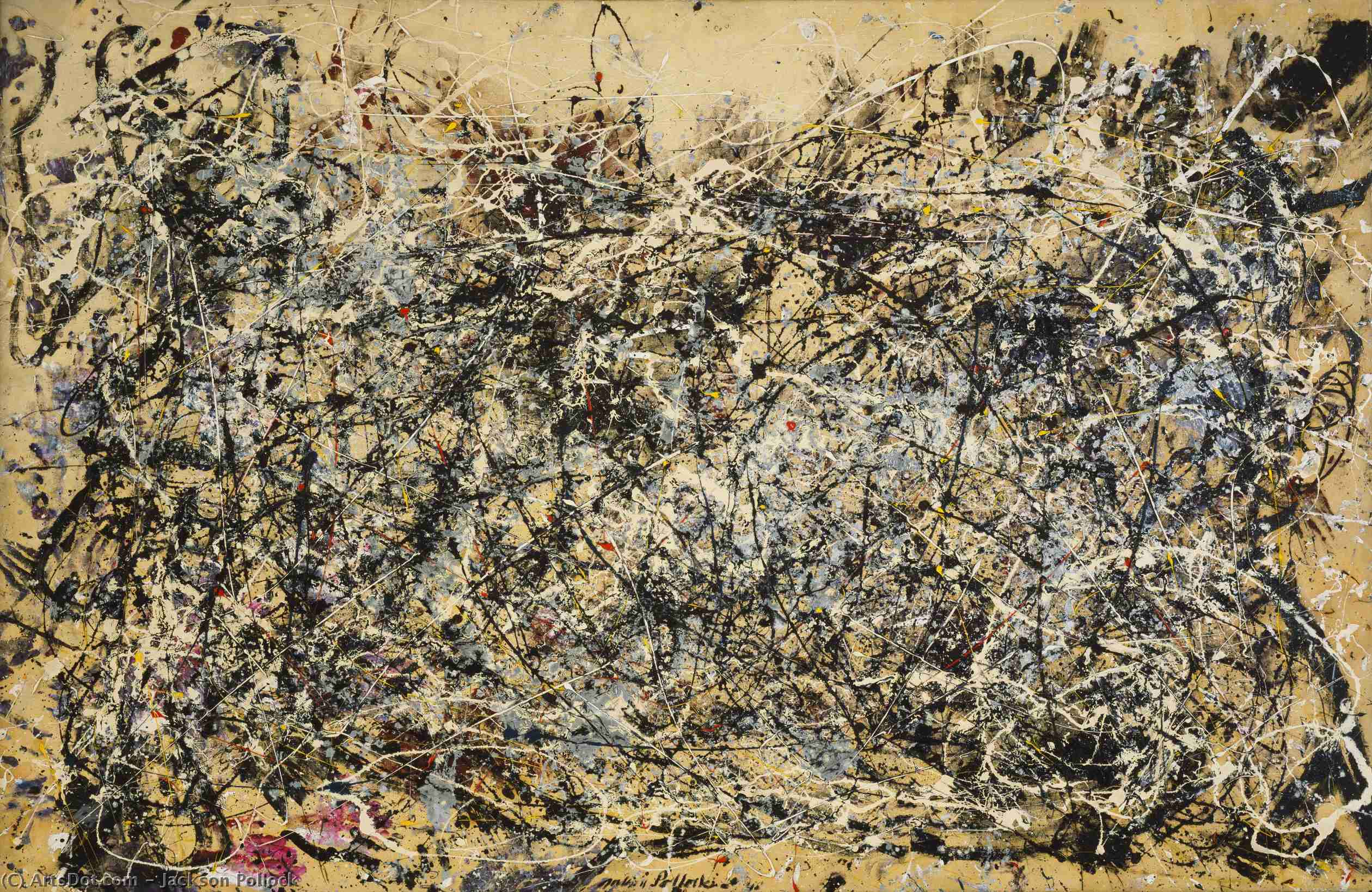 Number 1, 1949, Oil by Jackson Pollock (1912-1956, United States)