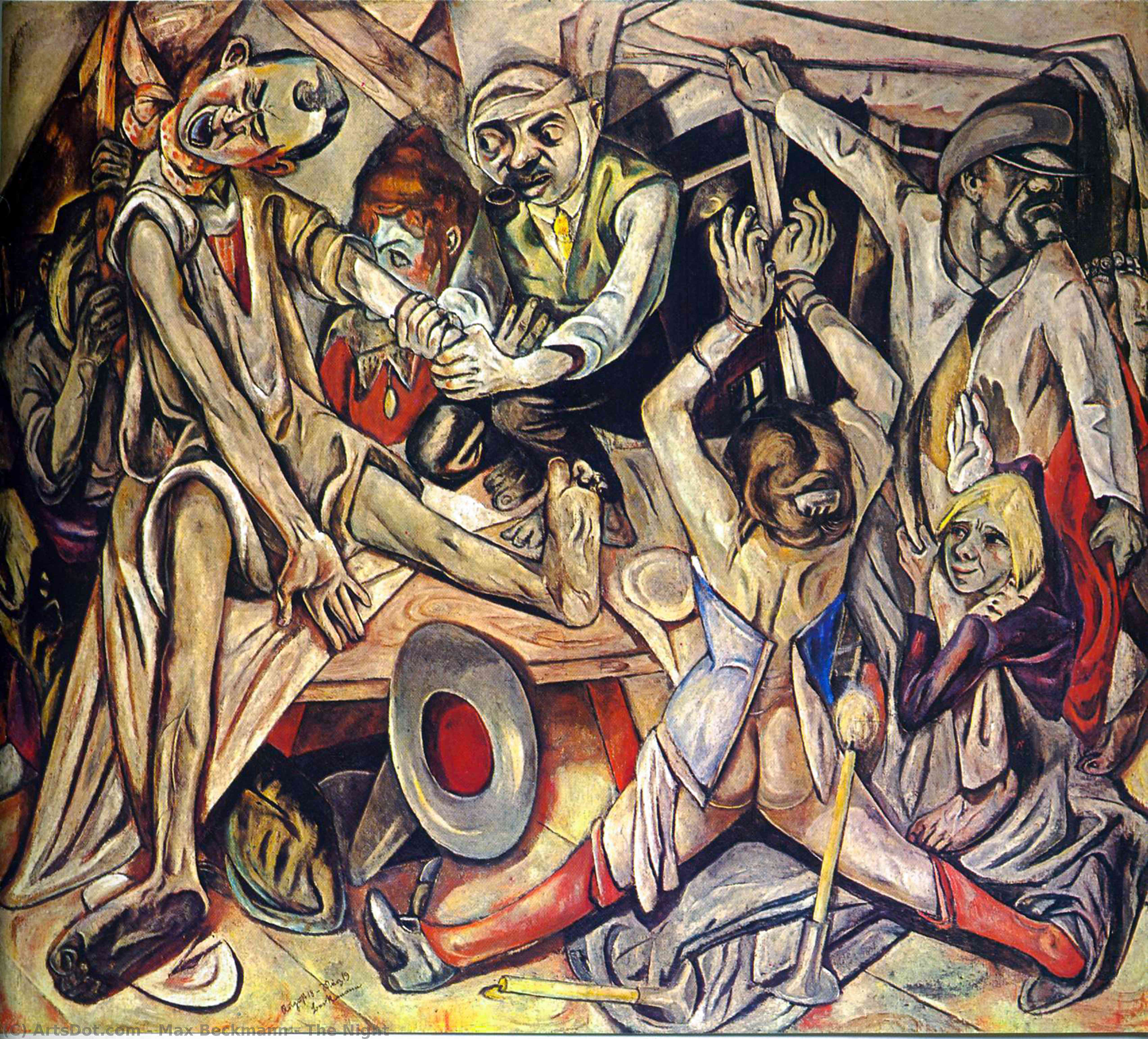 The Night, 1919 by Max Beckmann (1884-1950, Germany) | Museum Quality Reproductions | ArtsDot.com